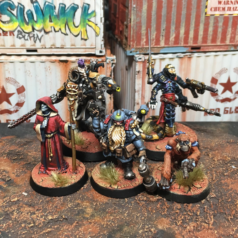 Abhuman, Beastmen, Jokaero, Knarloc, Kroot, Mercenary, Squats