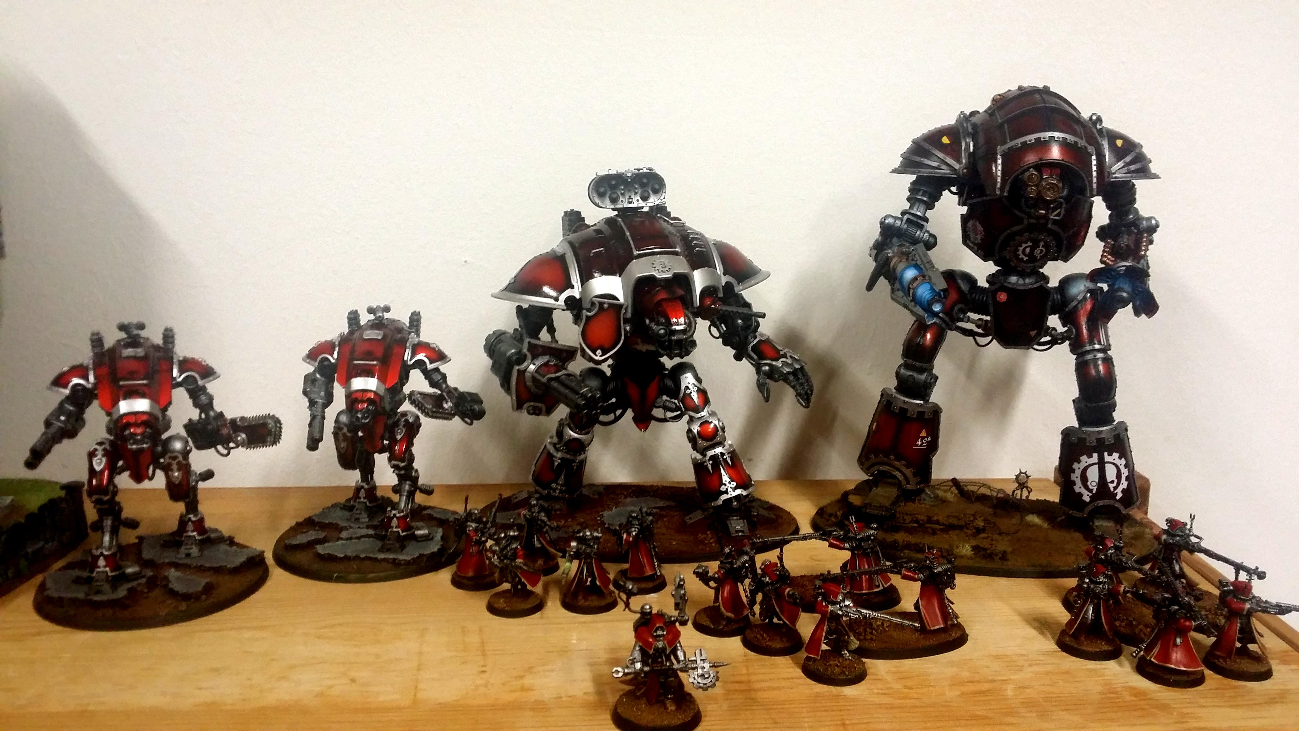 Imperial Knights, Questor Mechanicus, Taranis, Warhammer 40,000, Work In Progress