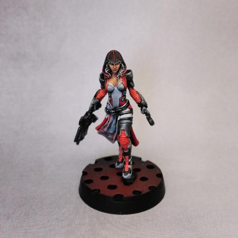 Female, Infinity, Mercenary, Nomads, Tohaa, Yu Jing