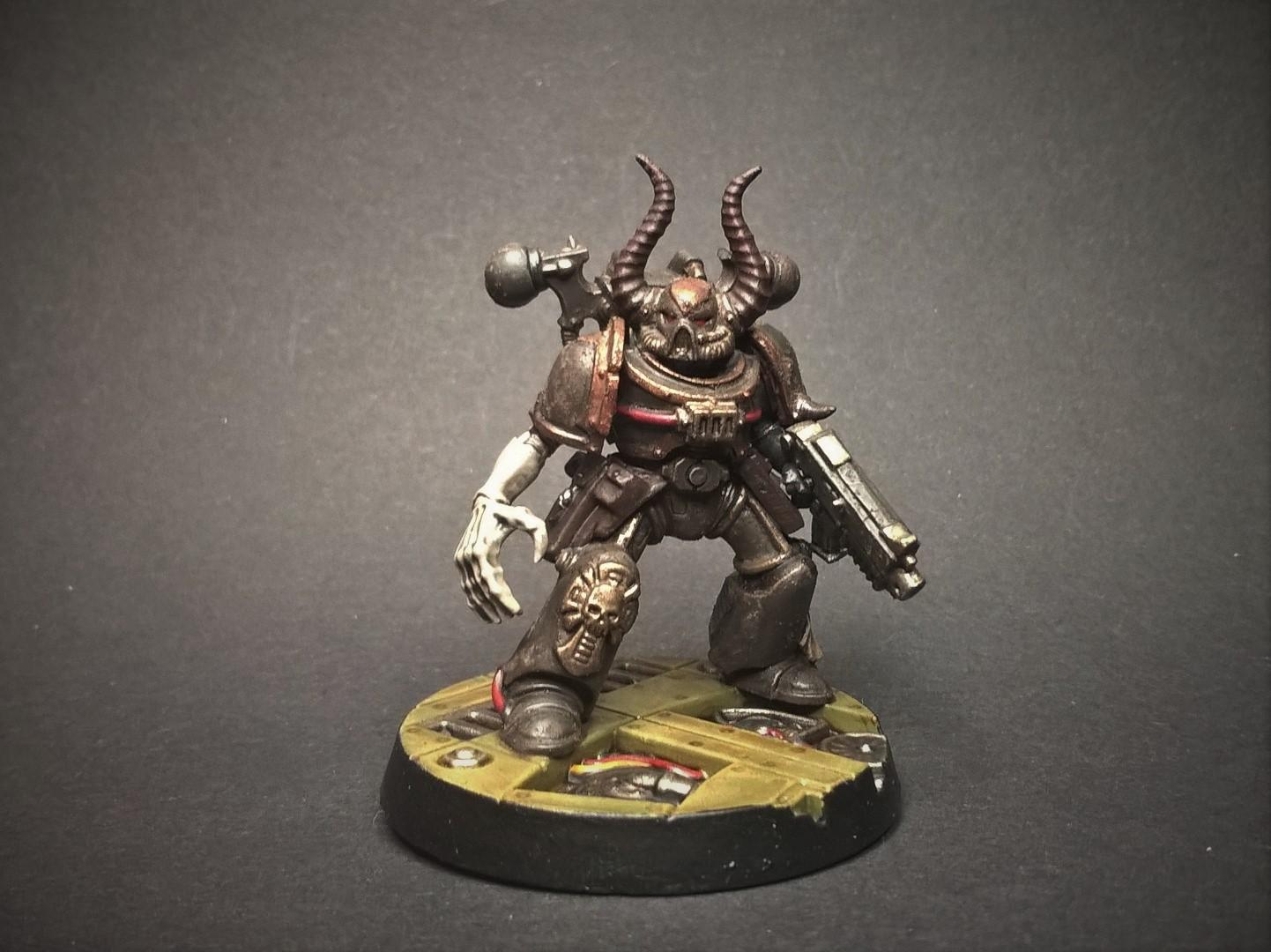 Black Legion, Chaos, Chaos Space Marines, Conversion, True Scale, Warhammer 40,000