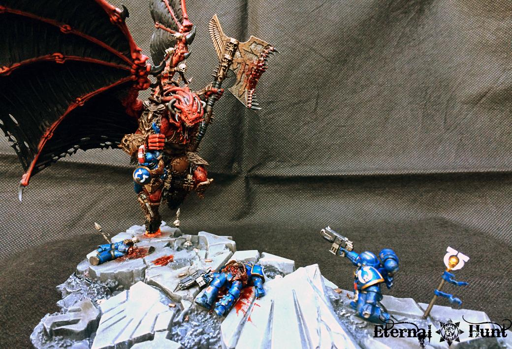 Angron, Aquila, Base, Conversion, Daemon Primarch, Daemon Prince, Daemons, Display, Honoured Imperium, Khorne, Kitbash, Last Stand, Primarch, Terrain, The Red Angel, Ultramarines, Warhammer 40,000, World Eaters