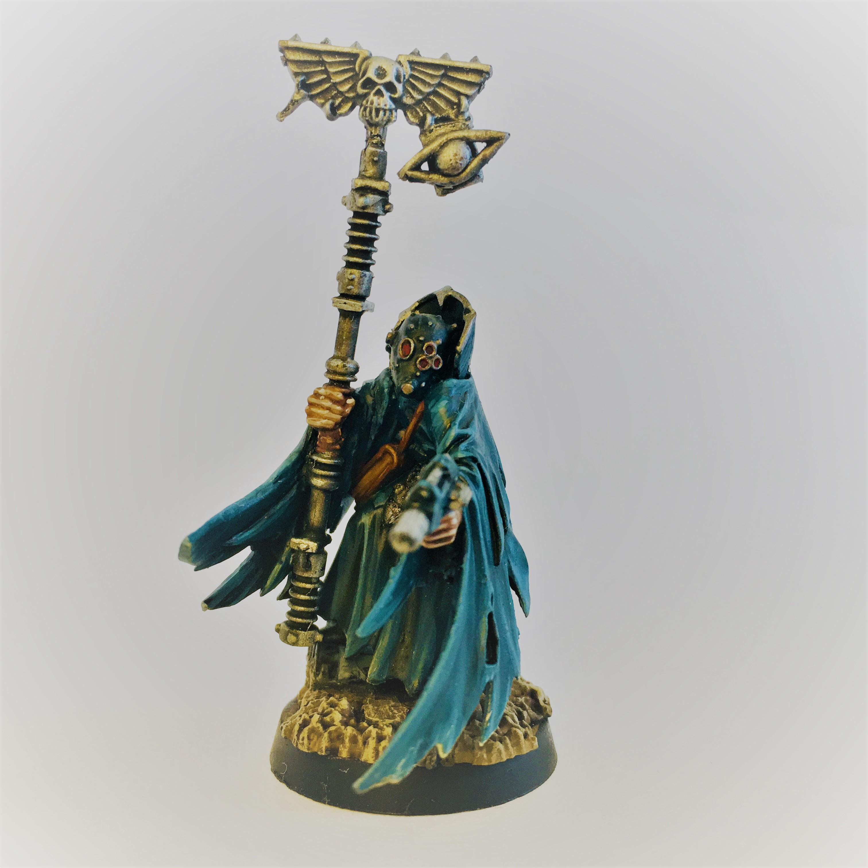 Astropath, Chaos Cultist, Conversion, Inquisition, Necromancer, Warband, Warhammer 40,000, Warhammer Fantasy