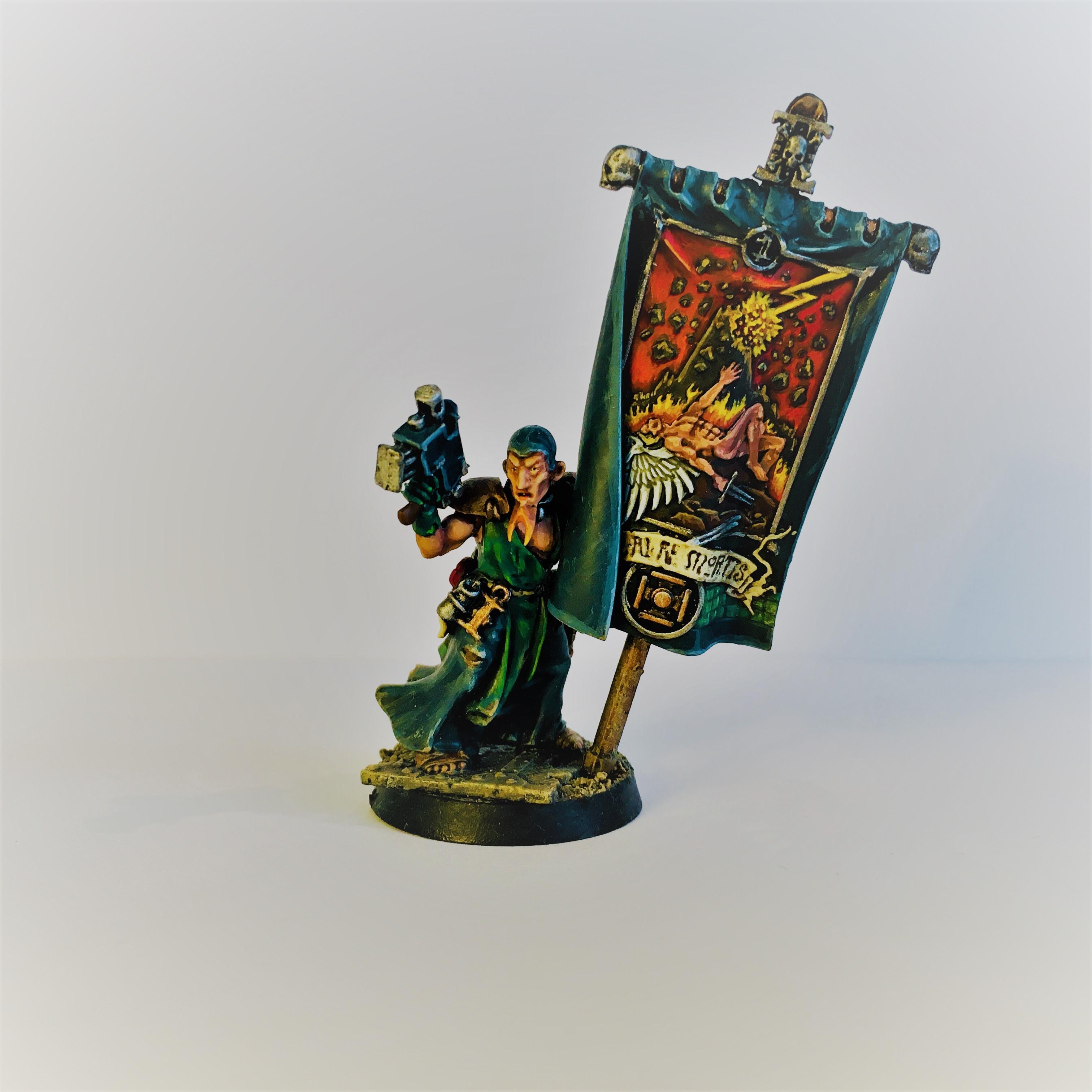 Battle Wizard, Conversion, Deathwing Banner, Flagellant, Inquisition, Ministorum, Priest, Warband