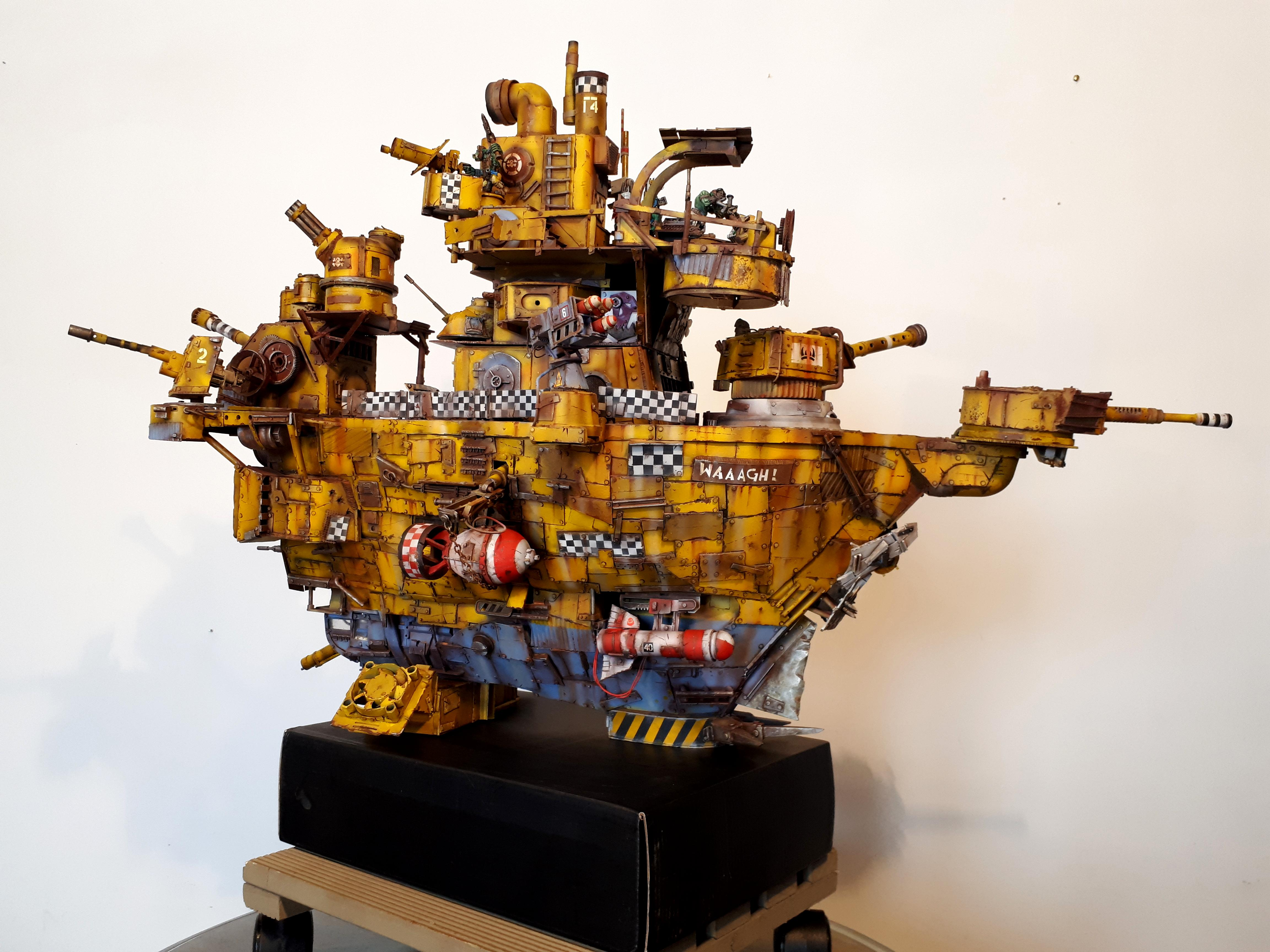 Battleship, Do-it-yourself, Gunship, Orks, Scratch Building