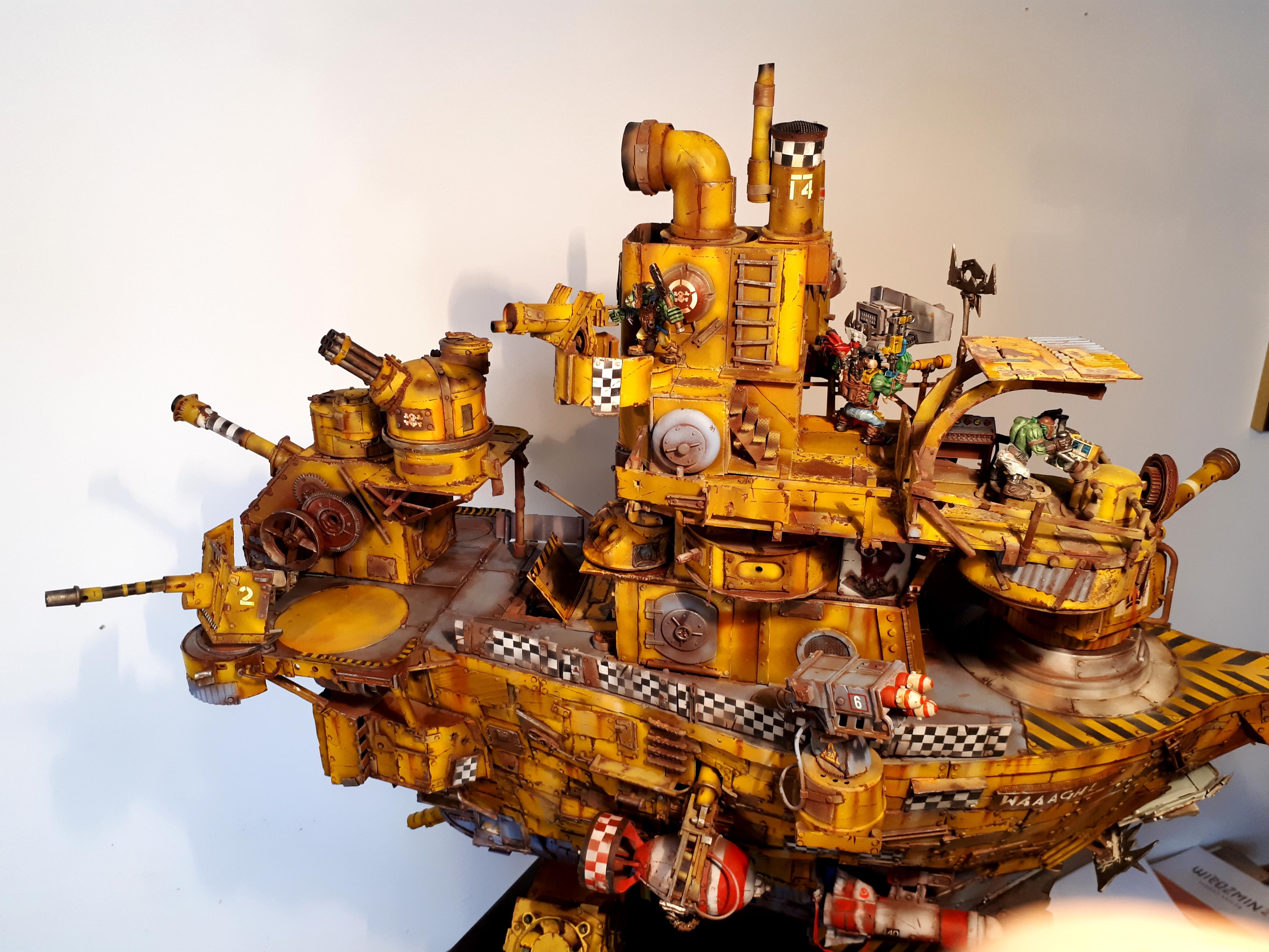Battleship, Do-it-yourself, Gunship, Orks, Scratch Building