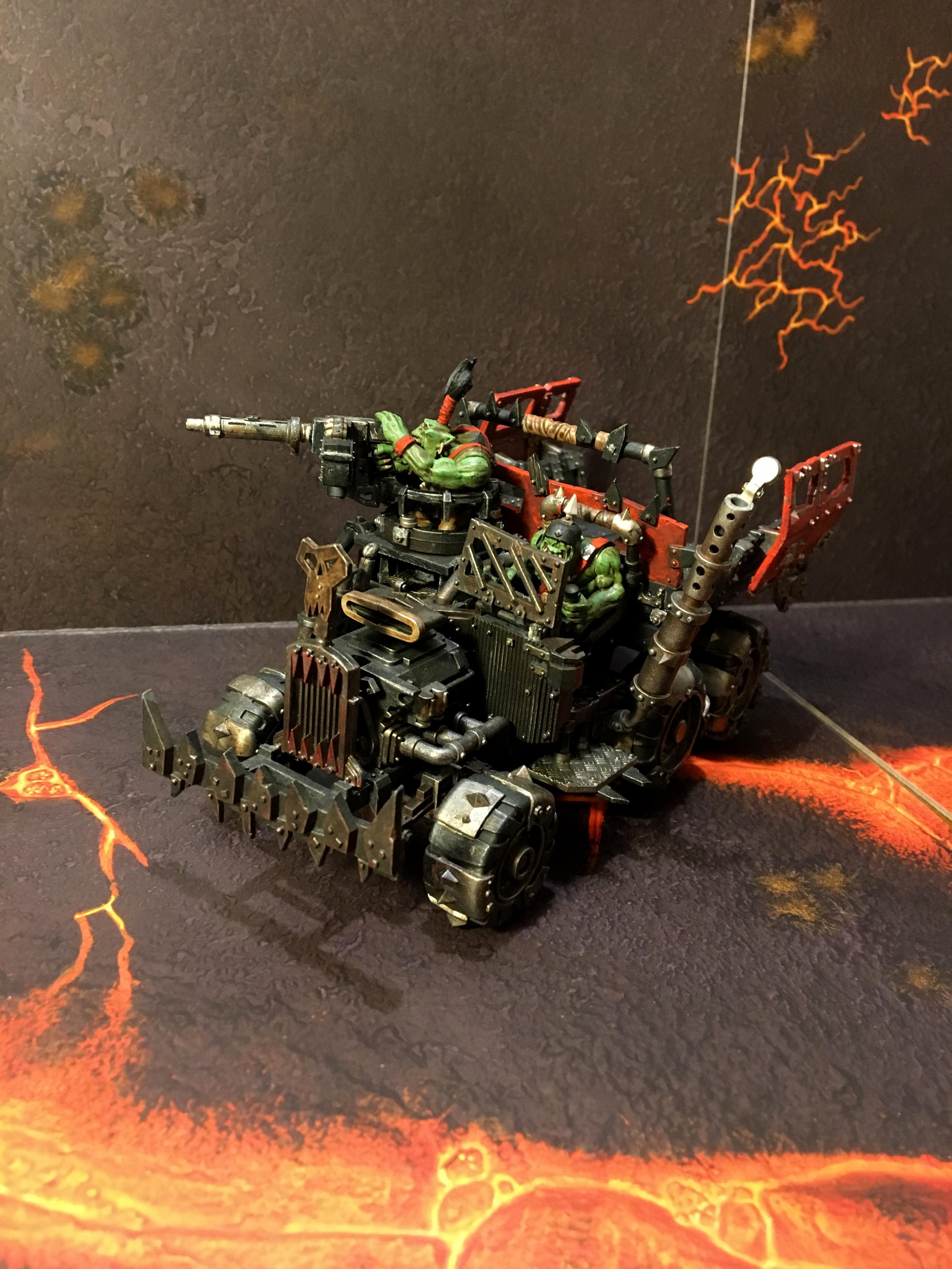 40k Ork Trukk, Blood Axe Trukk, Games Workshop Trukk, Gw Trukk, Ork Trukk, Red Makes It Go Fasta, Warhammer 40k Ork Trukk, Warhammer Ork Trukk