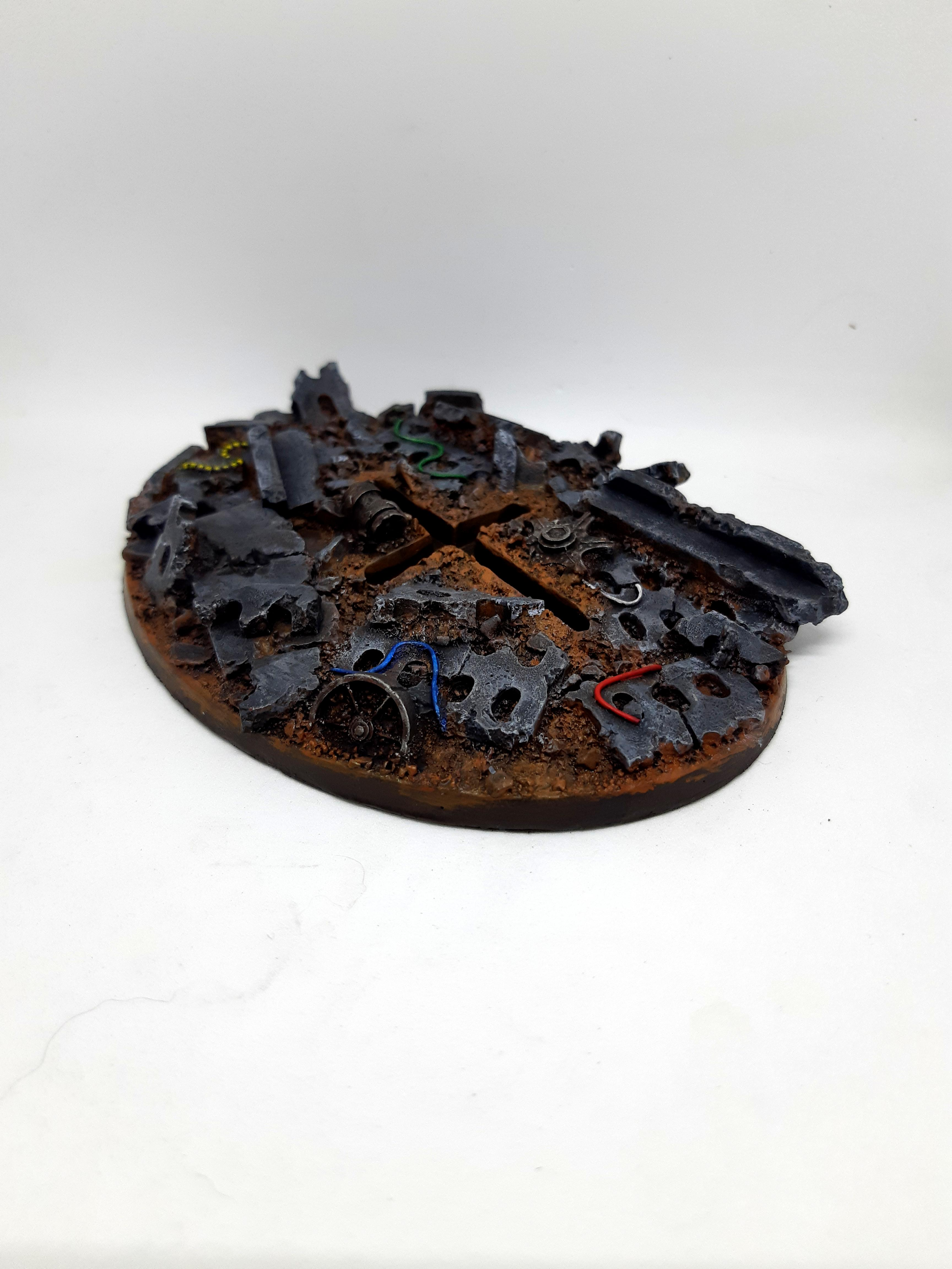 120 Mm, 120mm, Base, Flyer, Kromlech, Oval, Resin, Warhammer 40,000