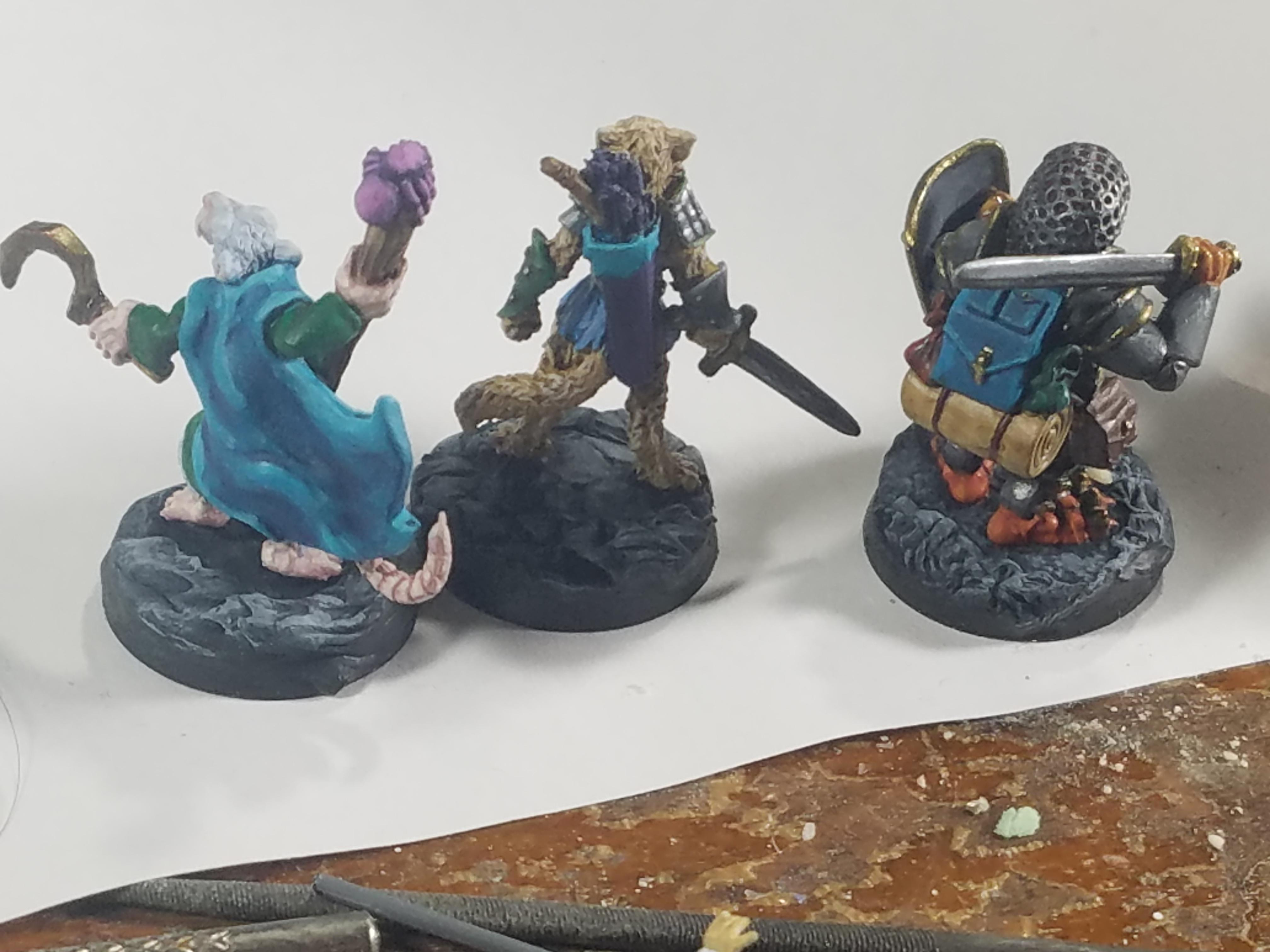 Animal Adventurers, Cat, Dakka Painting Challenge 2018, Duck, Oathsworn, Rat, Reaper Miniatures