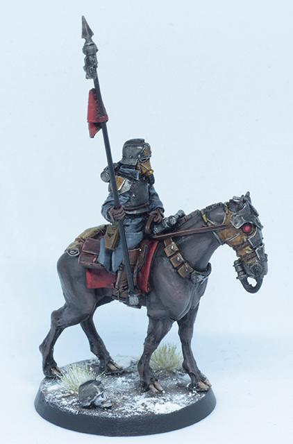 Astra Militarum, Blending, Death Korps of Krieg, Death Rider, Deathrider, Elite, Fast Attack, Horse, Imperial Guard, Rider, Snow, Warhammer 40,000