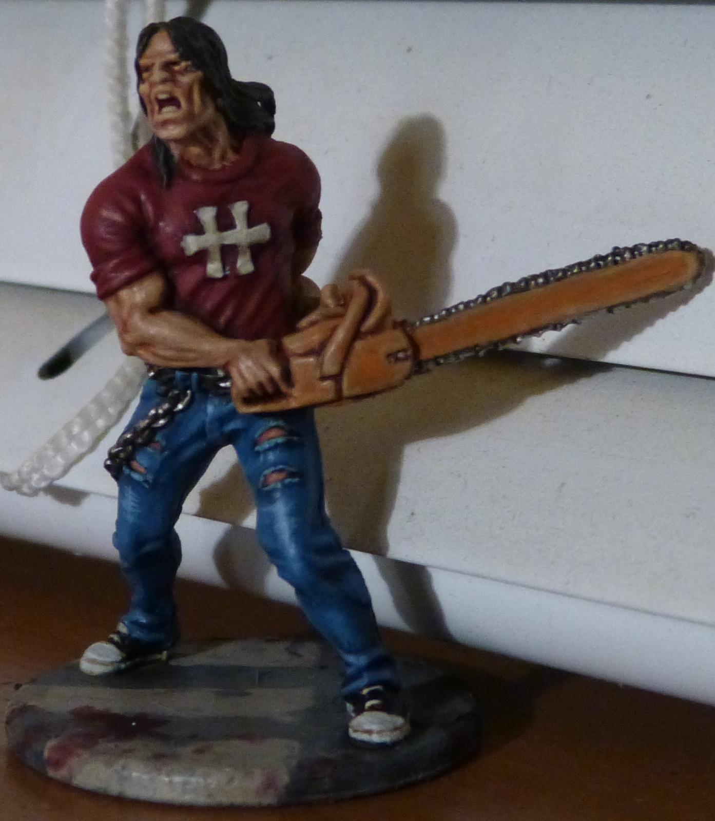 Chainsaw, Survivor, Zombie