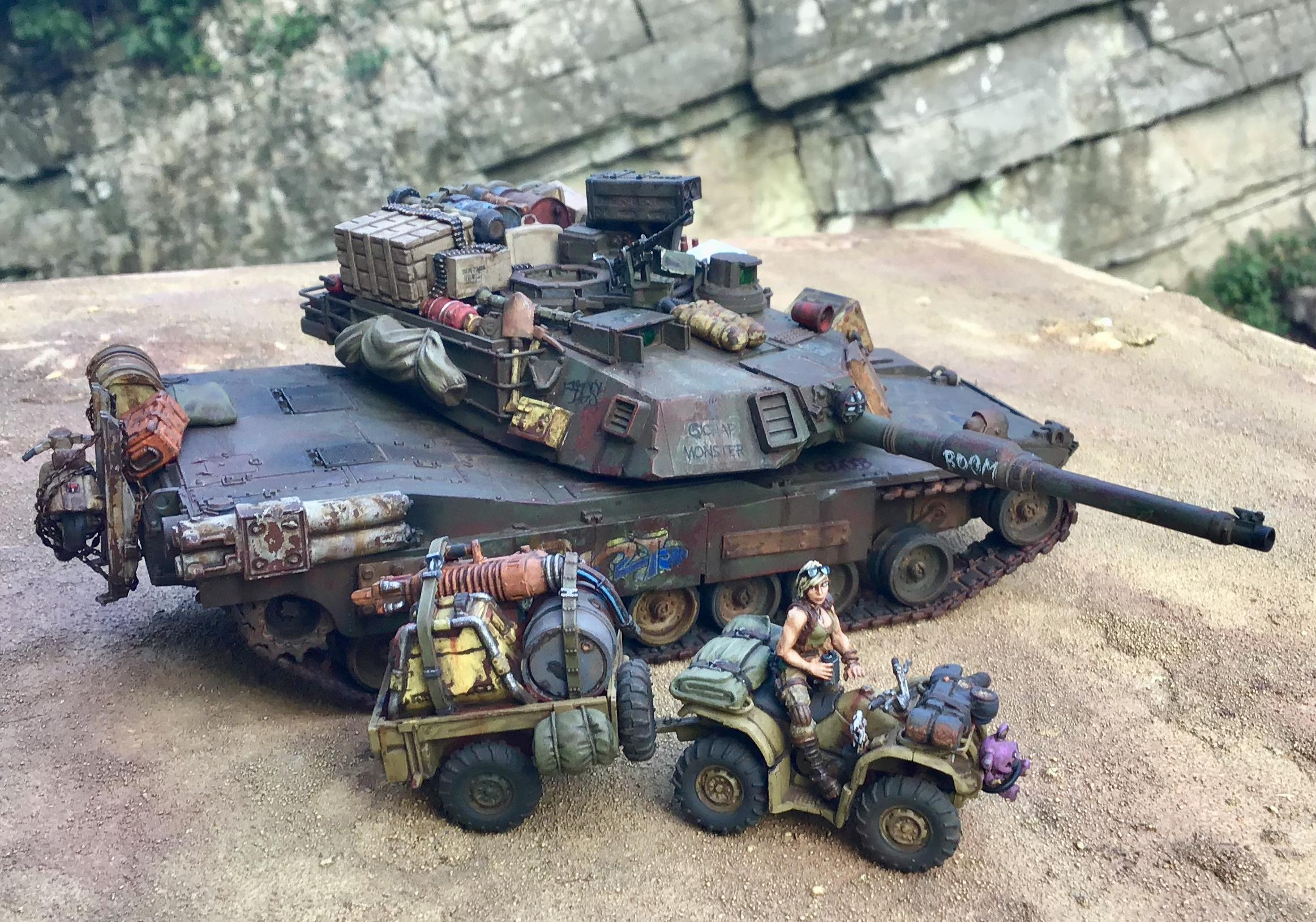 Abrams, M1, Modern, Post Apocalypse, Tank