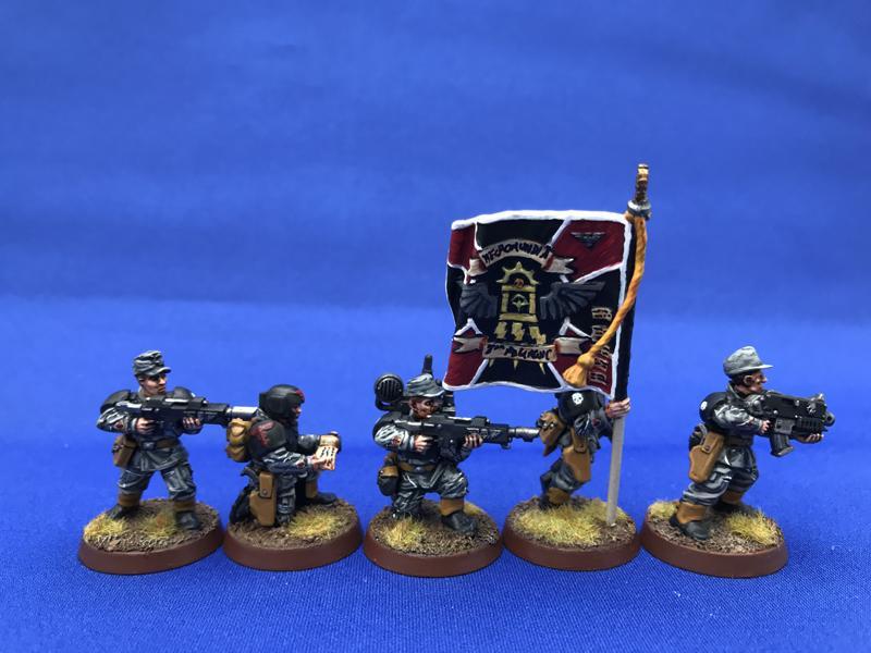 Astra Militarum, Bolter, Command Squad, Imperial Guard, Junior Officer, Junior Officer And Command Squad, Medic, Necromundian, Standard