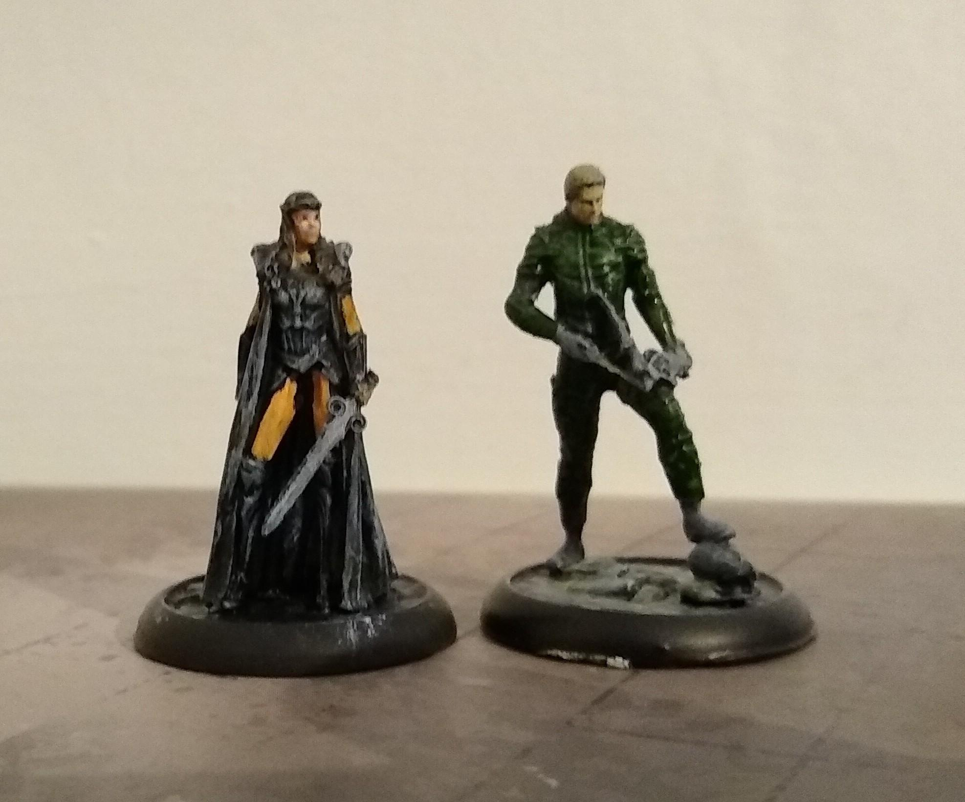 Hippolyta/green arrow wips