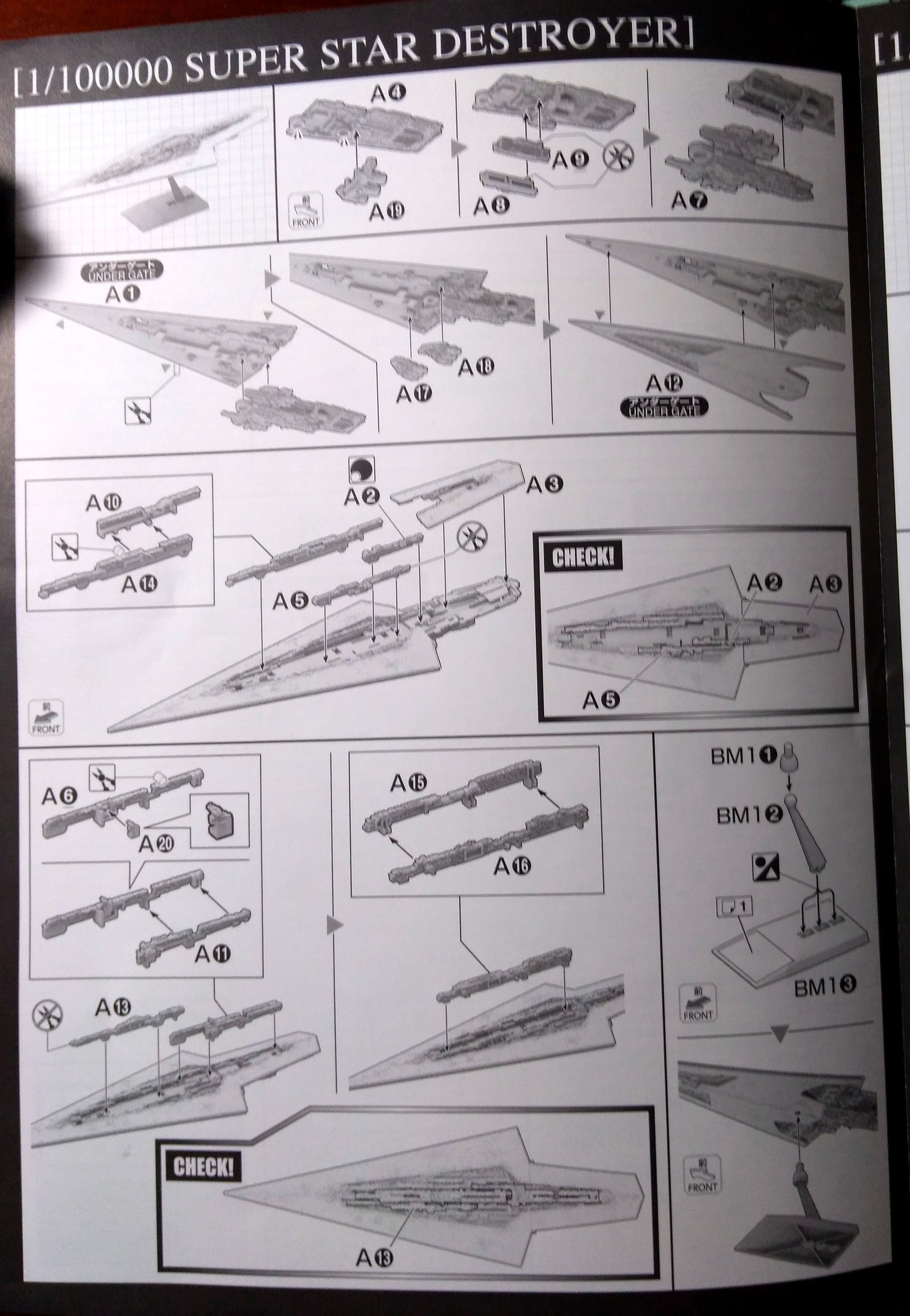 Bandai, Battlefleet Gothic, Battleship, Instructions, Star Wars, Super Star Destroyer