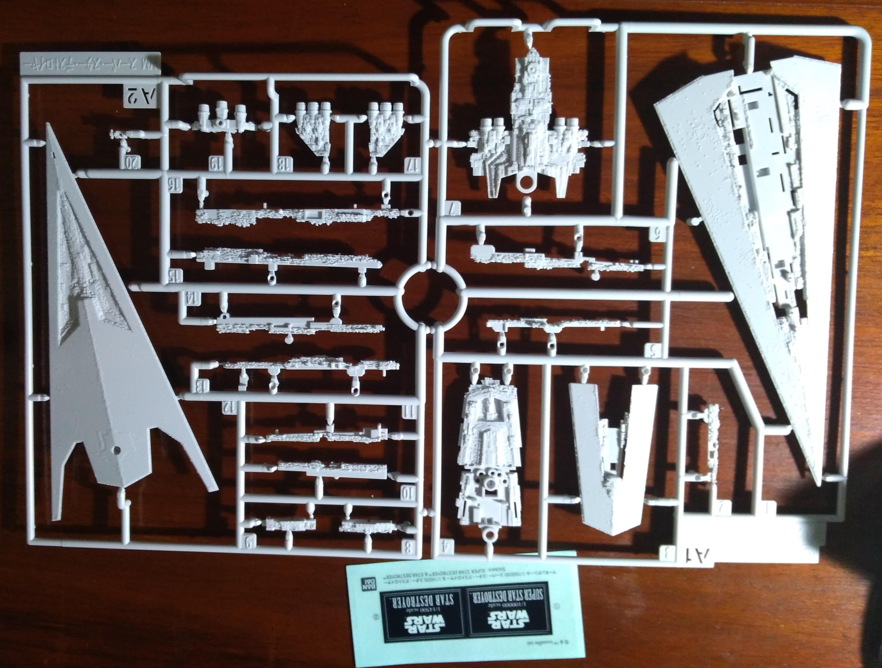 Bandai, Battlefleet Gothic, Battleship, Sprue, Star Wars, Super Star Destroyer