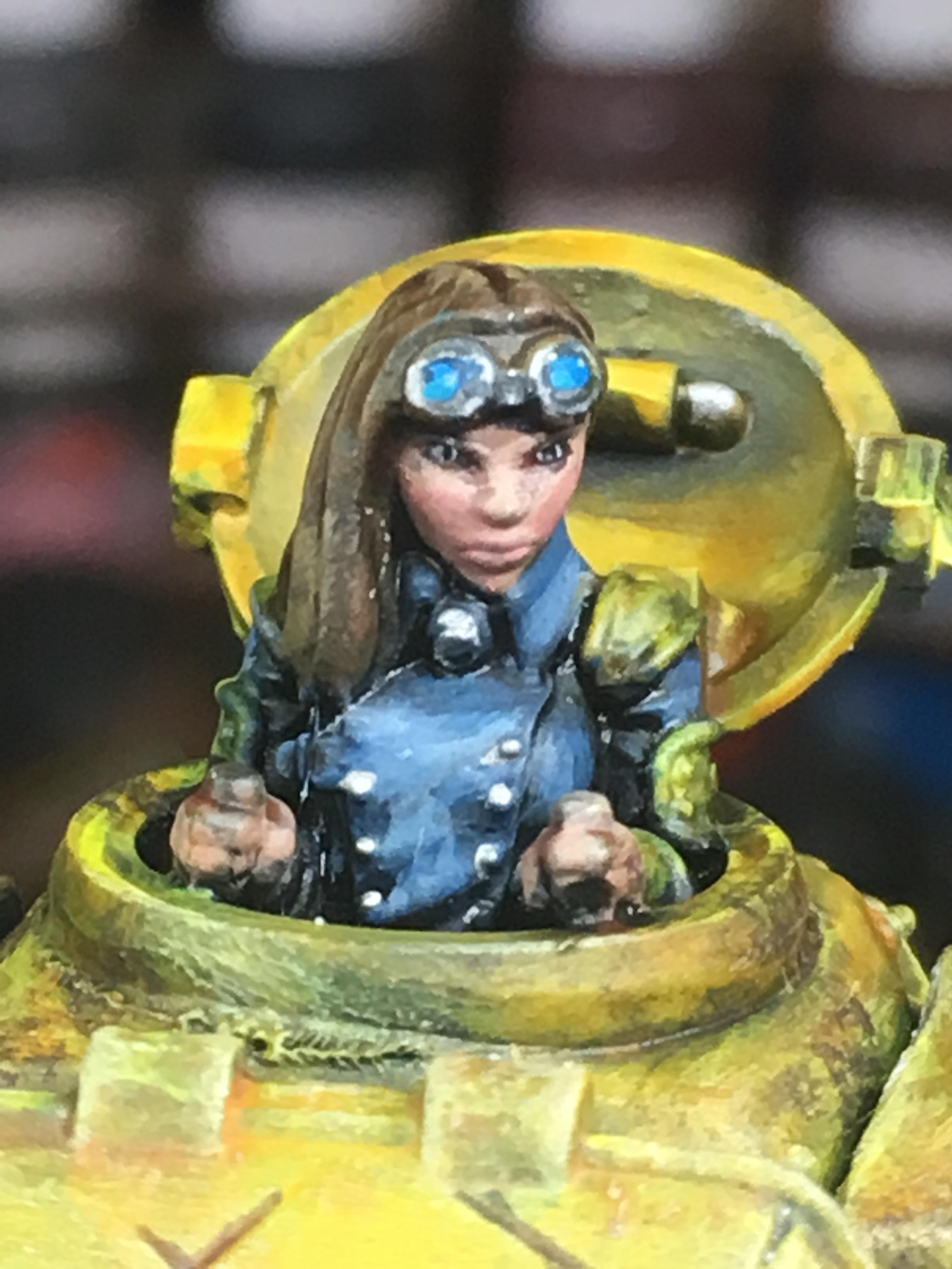 Commander, Female, Girl, Tank