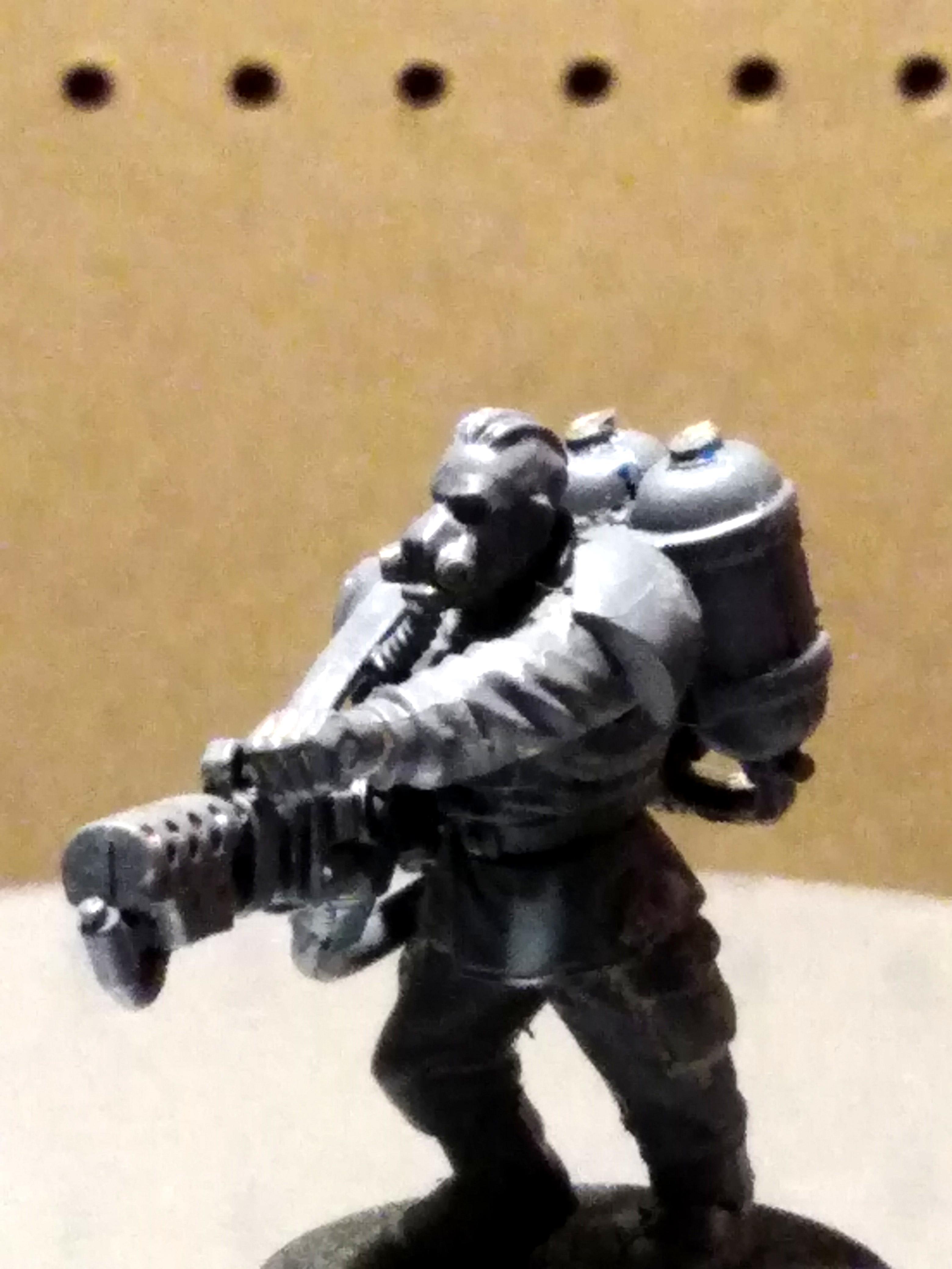 Flamer, Guardsmen, Imperial Guard, Respirator