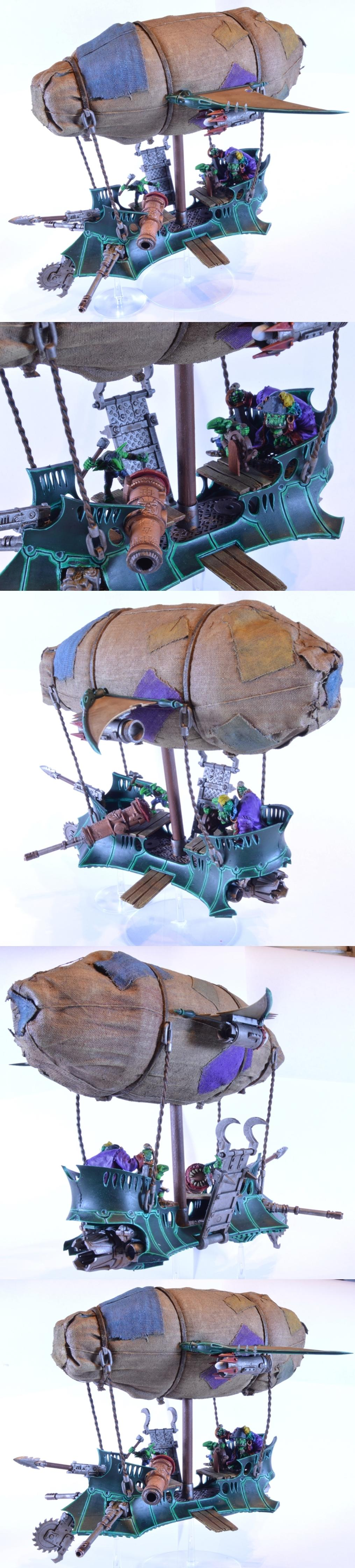 Airship, Conversion, Dark Eldar, Looted, Orks, Raider