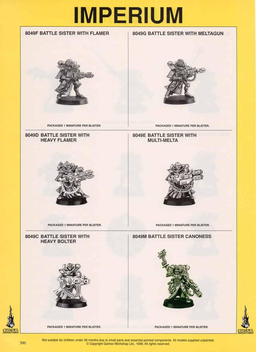 2nd Edition, Codex, Retro Review, Sisters Of Battle