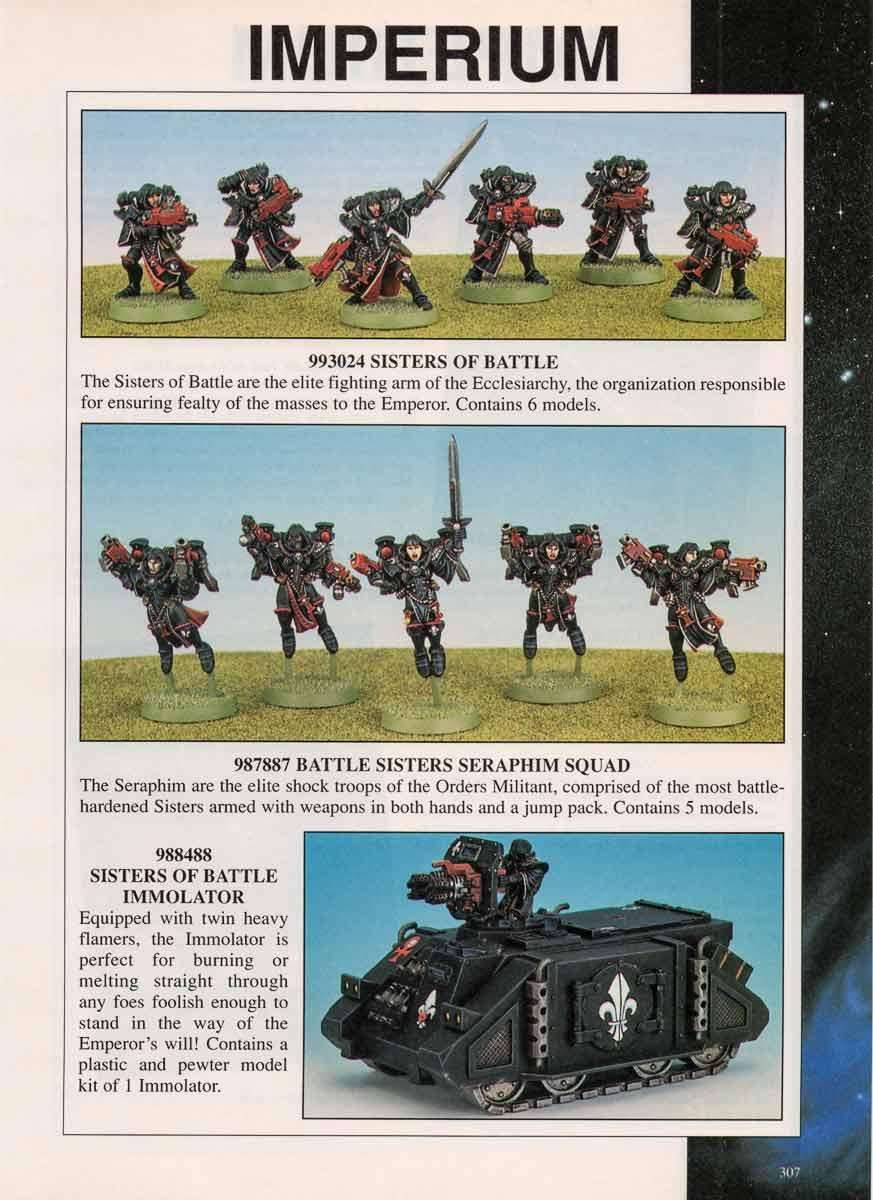 2nd Edition, Codex, Immolator, Retro Review, Sisters Of Battle