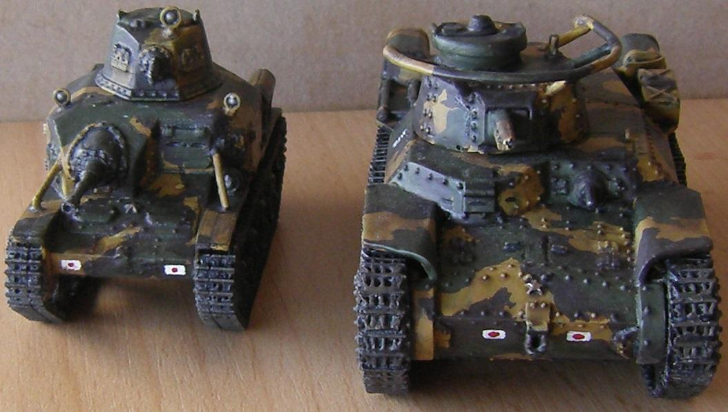 Type 92 Tankette and Type 97 Chi-Ha