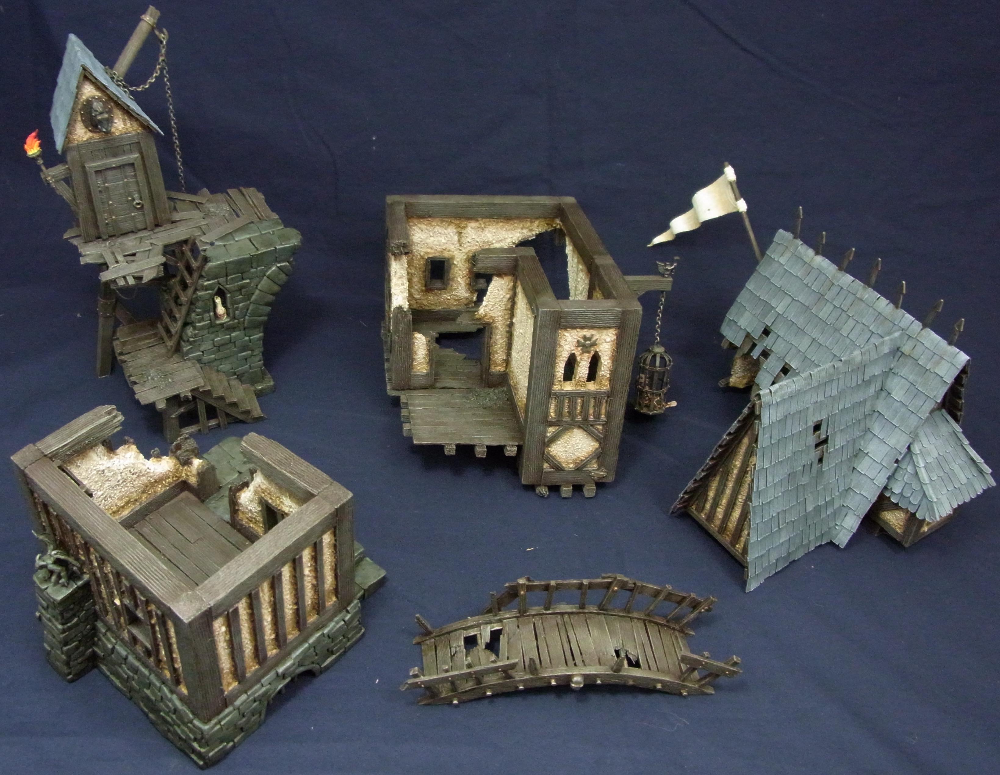 House, Modular, Mordheim, Scratch Build, Terrain