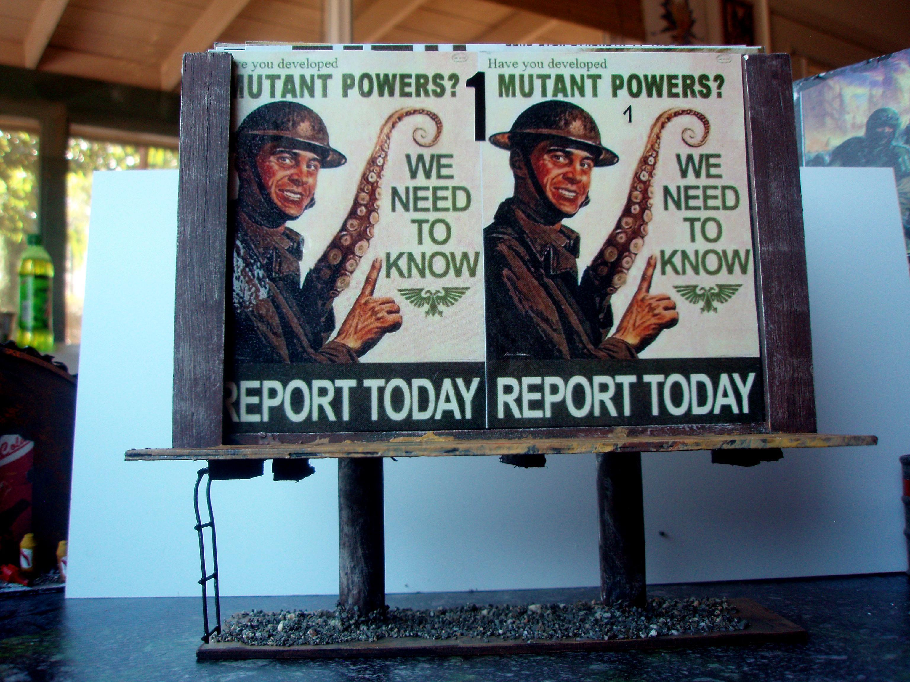40k Terrain, Billboard, Propaganda, Turn Counter
