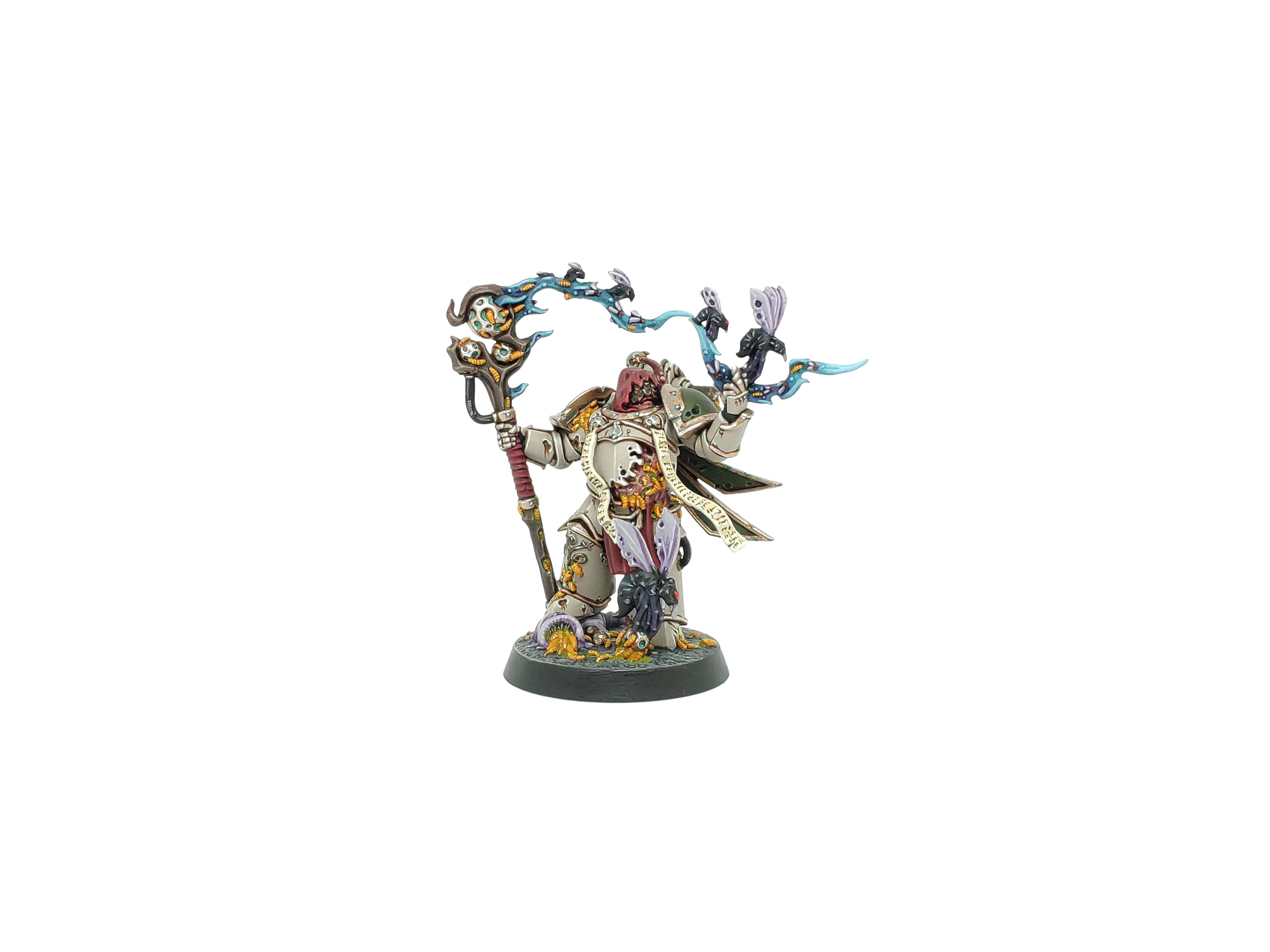 Chaos, Citadel, Death Guard, Games Workshop, Nurgle, Plaguecaster, Sorcerer, Space Marine Heroes, Space Marines