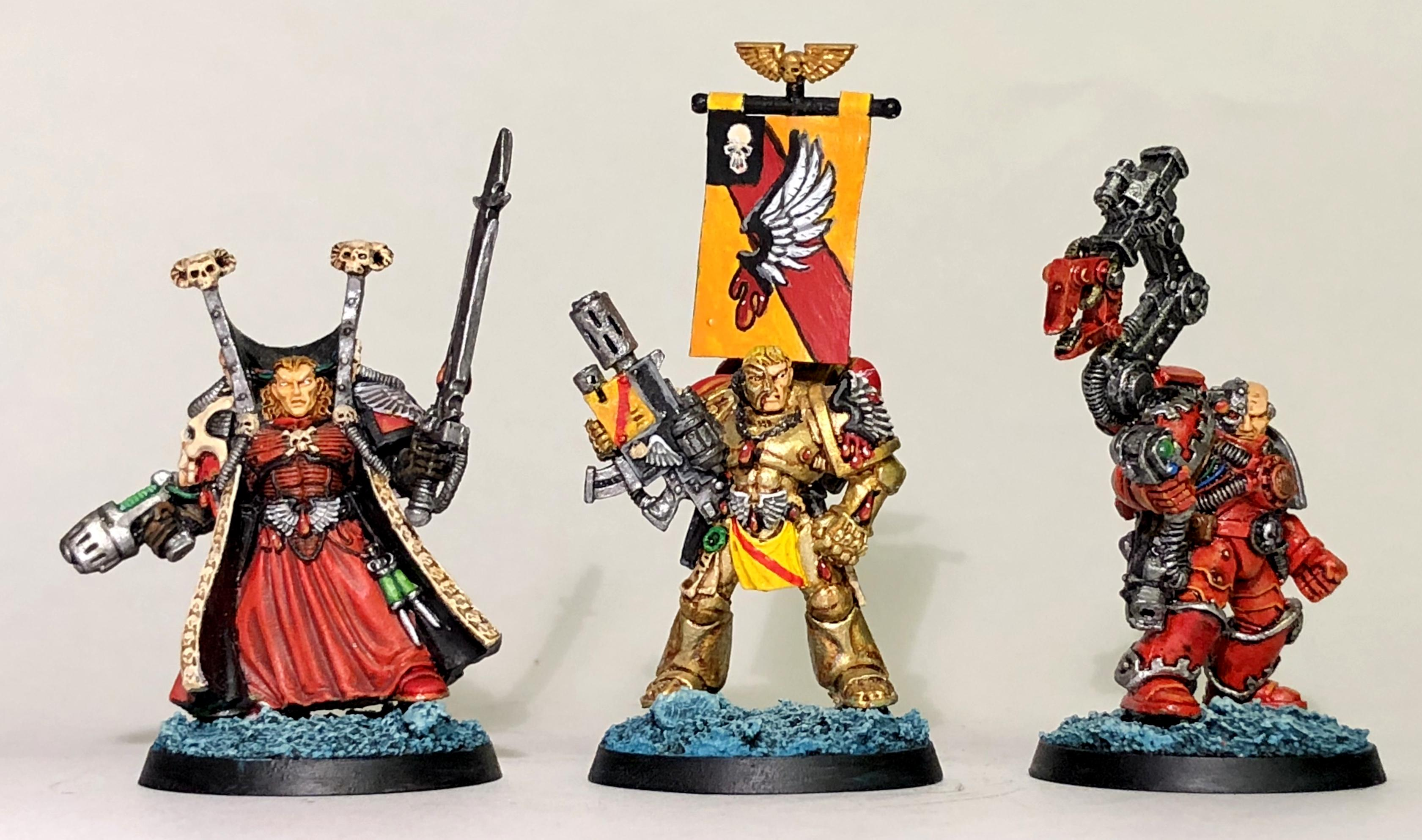 2nd Edition, Blood Angels, Captain, Characters, Librarian, Mephiston, Space Marines, Techmarine, Tycho