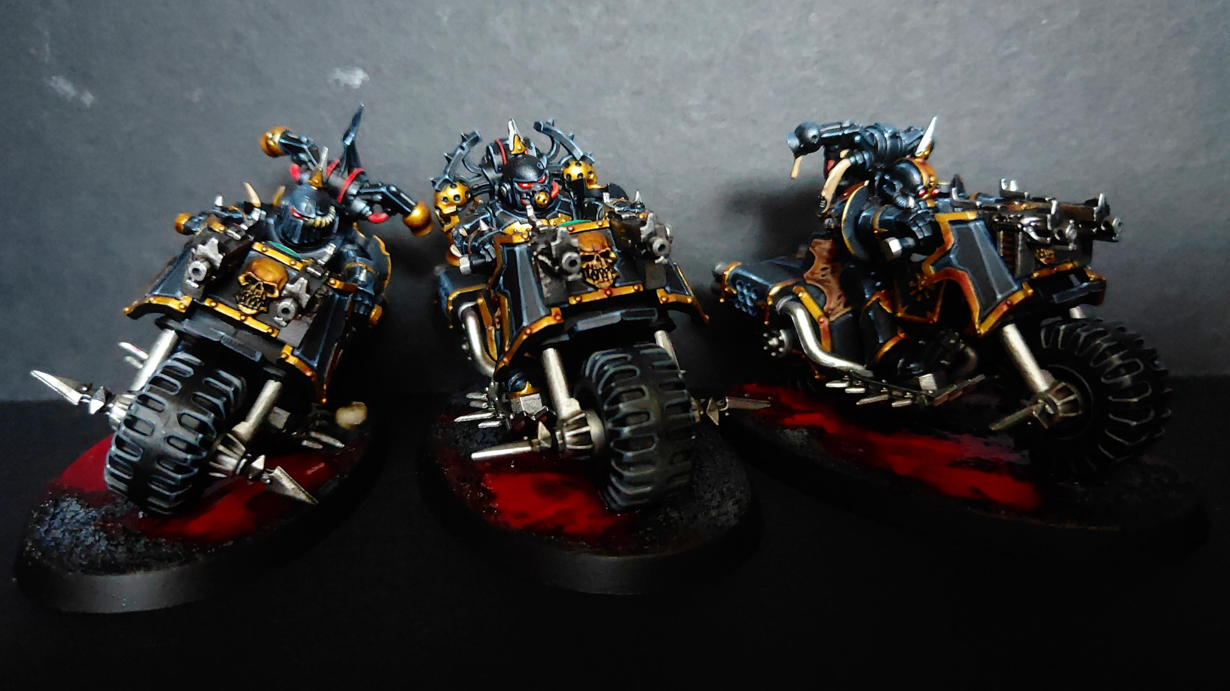 Bike, Black Legion, Chaos, Chaos Bikers, Chaos Knight, Chaos Space Marines, Chaos Undivided, Heretic Astartes, Nurgle, Plague Marines, Sin Eaters, Warhammer 40,000