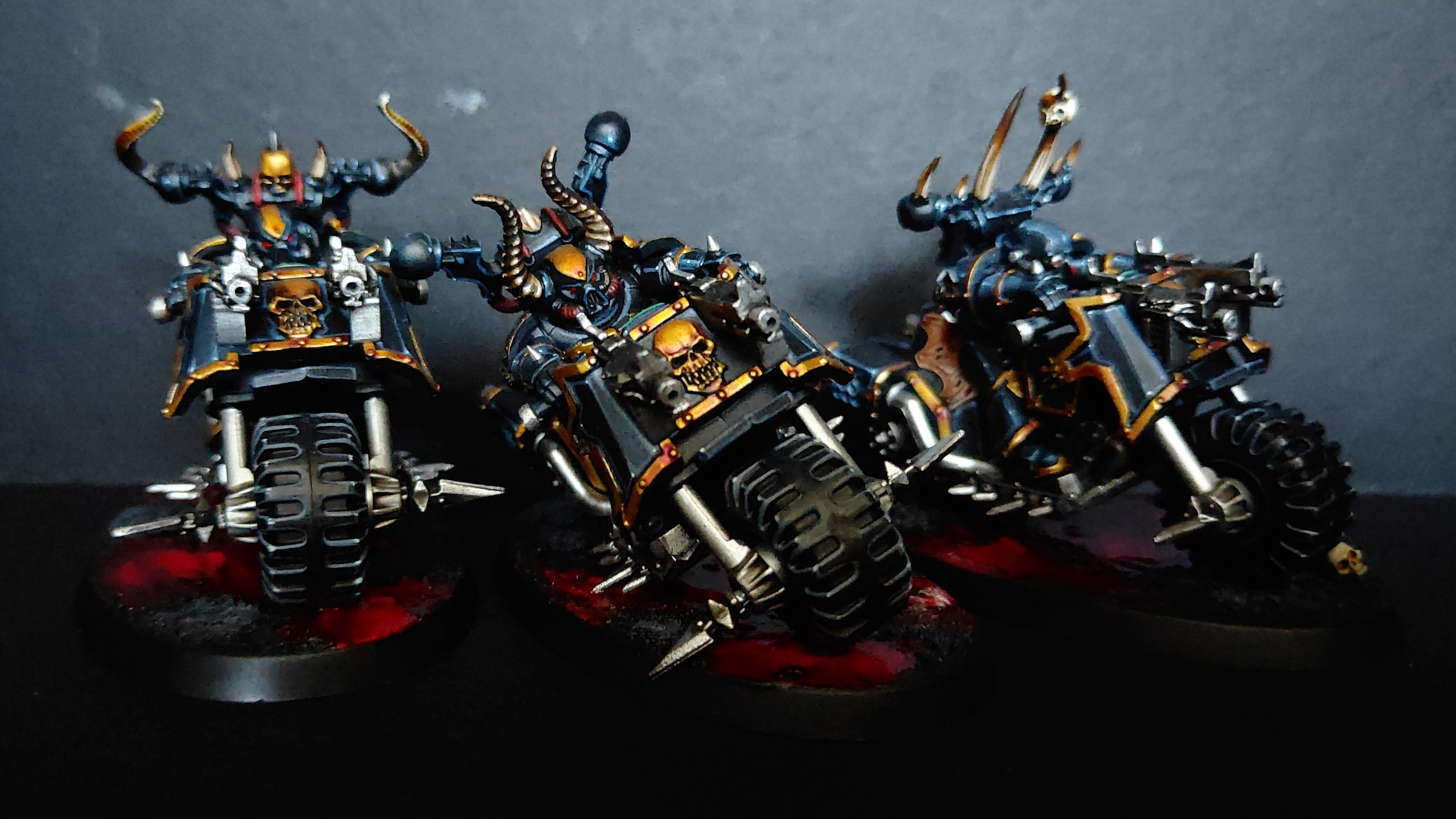 Bike, Black Legion, Chaos, Chaos Bikers, Chaos Knight, Chaos Space Marines, Chaos Undivided, Heretic Astartes, Possessed, Sin Eaters, Warhammer 40,000