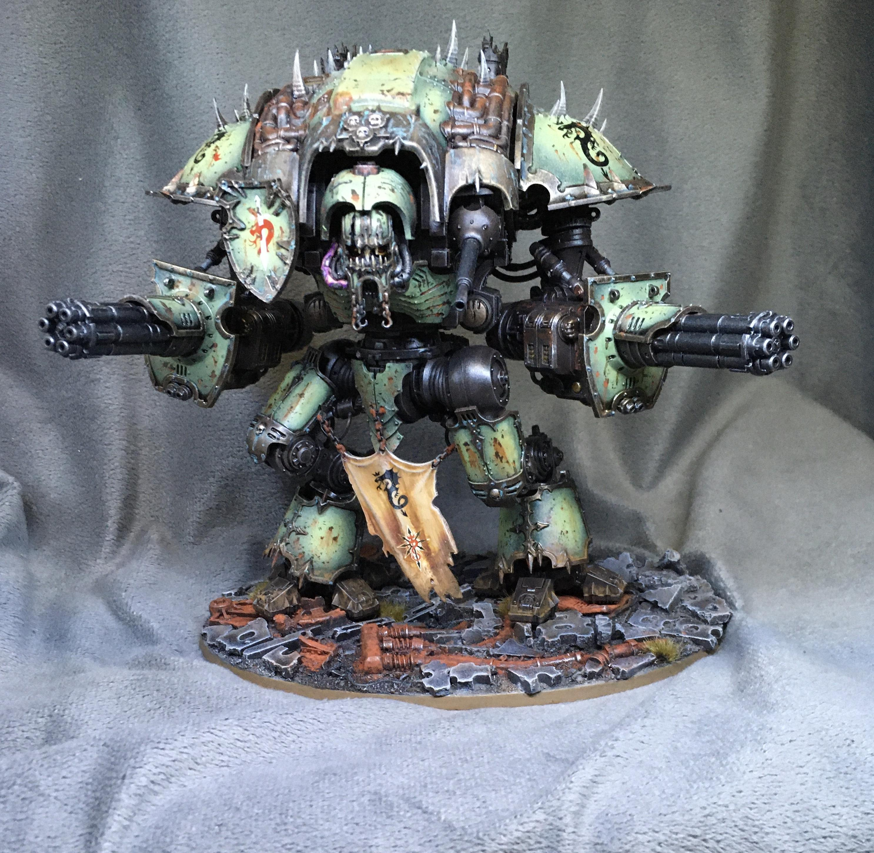 Chaos, Chaos Knight, Daemons, Infernal, Nurgle, Themed Base, Warhammer 40,000, Warhammer Fantasy