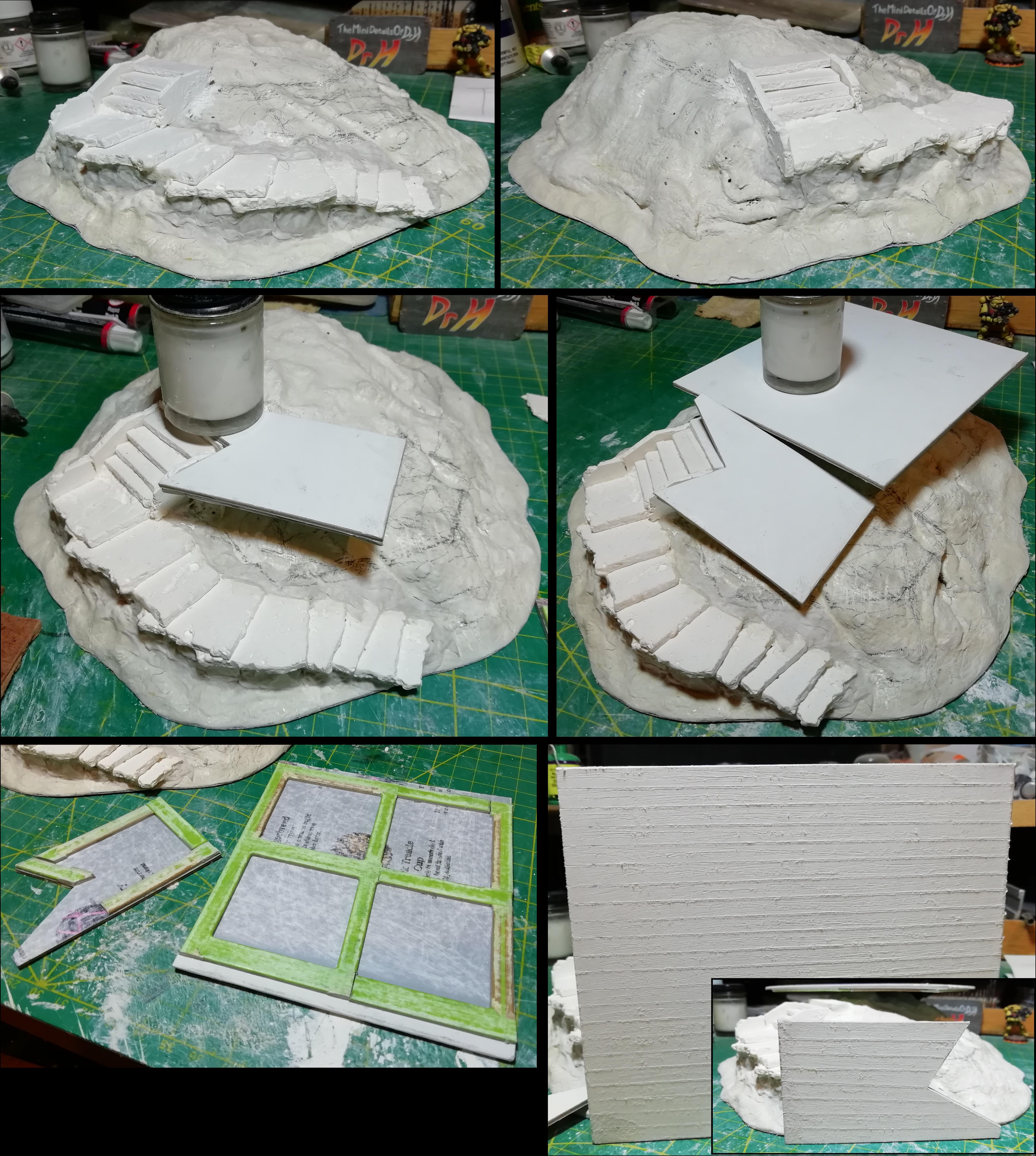 Mound wip 3; steps and platforms