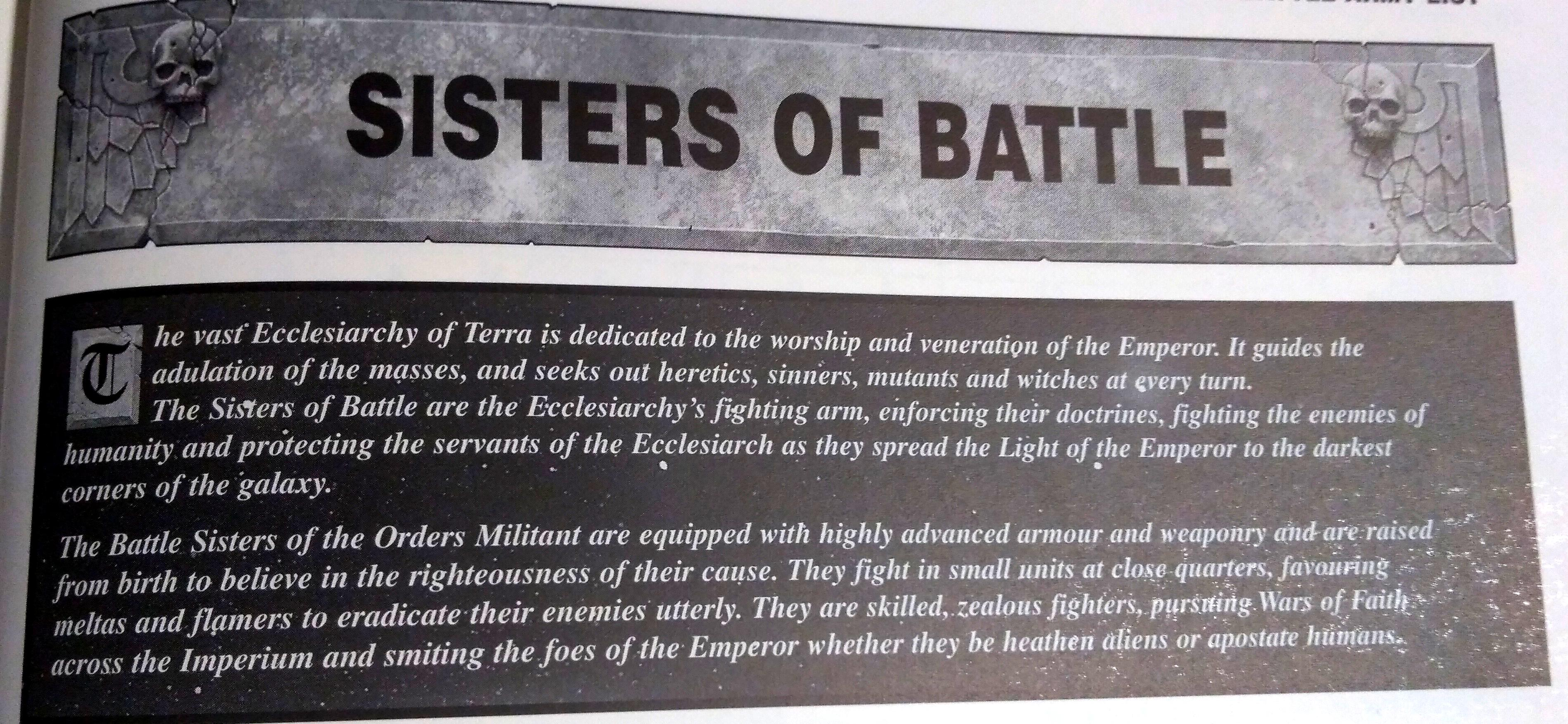 3rd Edition, Codex, Retro Review, Sisters Of Battle