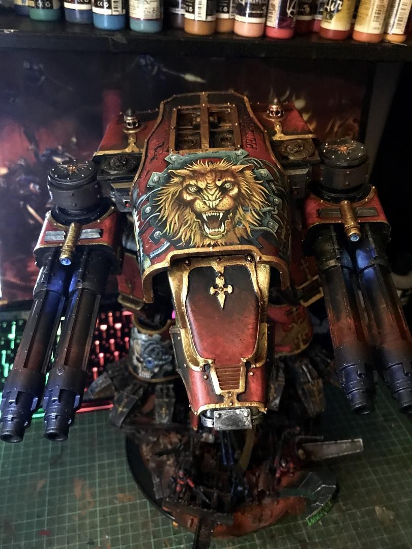 Freehand, Lion, Titan, Warhammer 40,000, Warhound