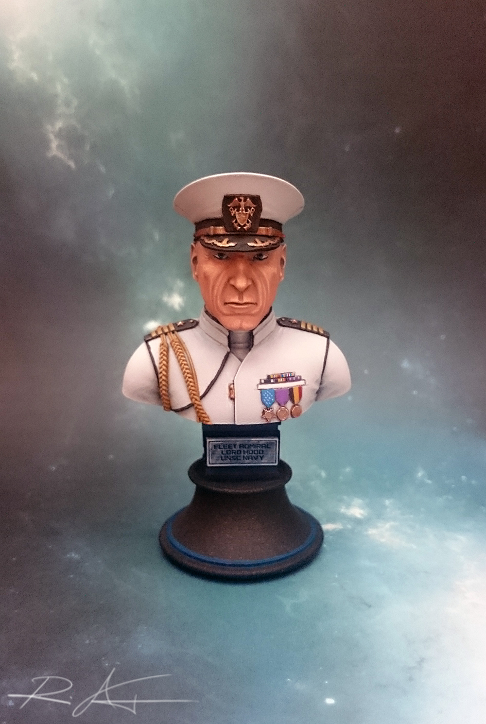 Admiral, Bust, Commission, Halo, Hood