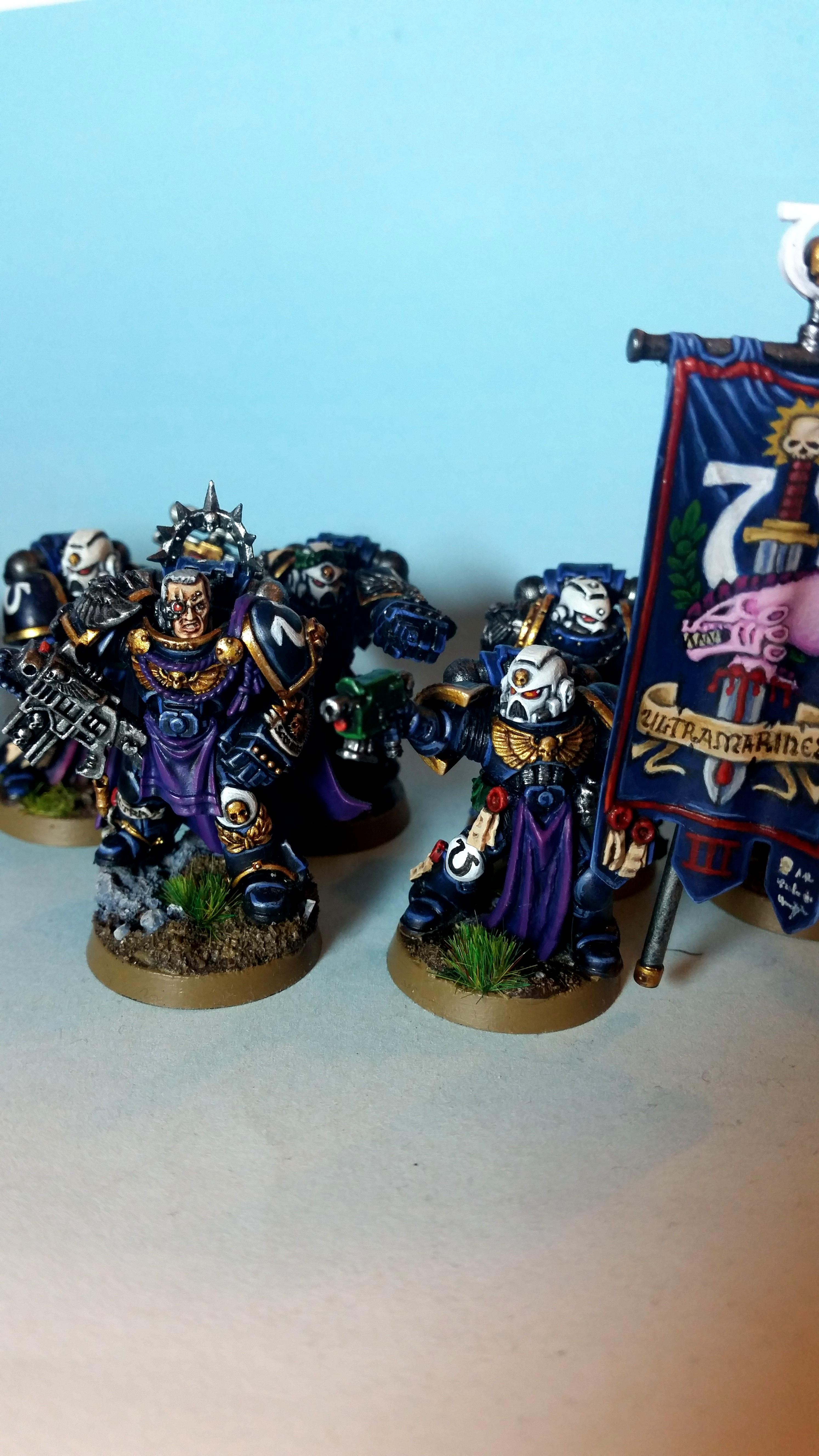 Ancient, Space Marines, Standard Bearer, Ultramarines