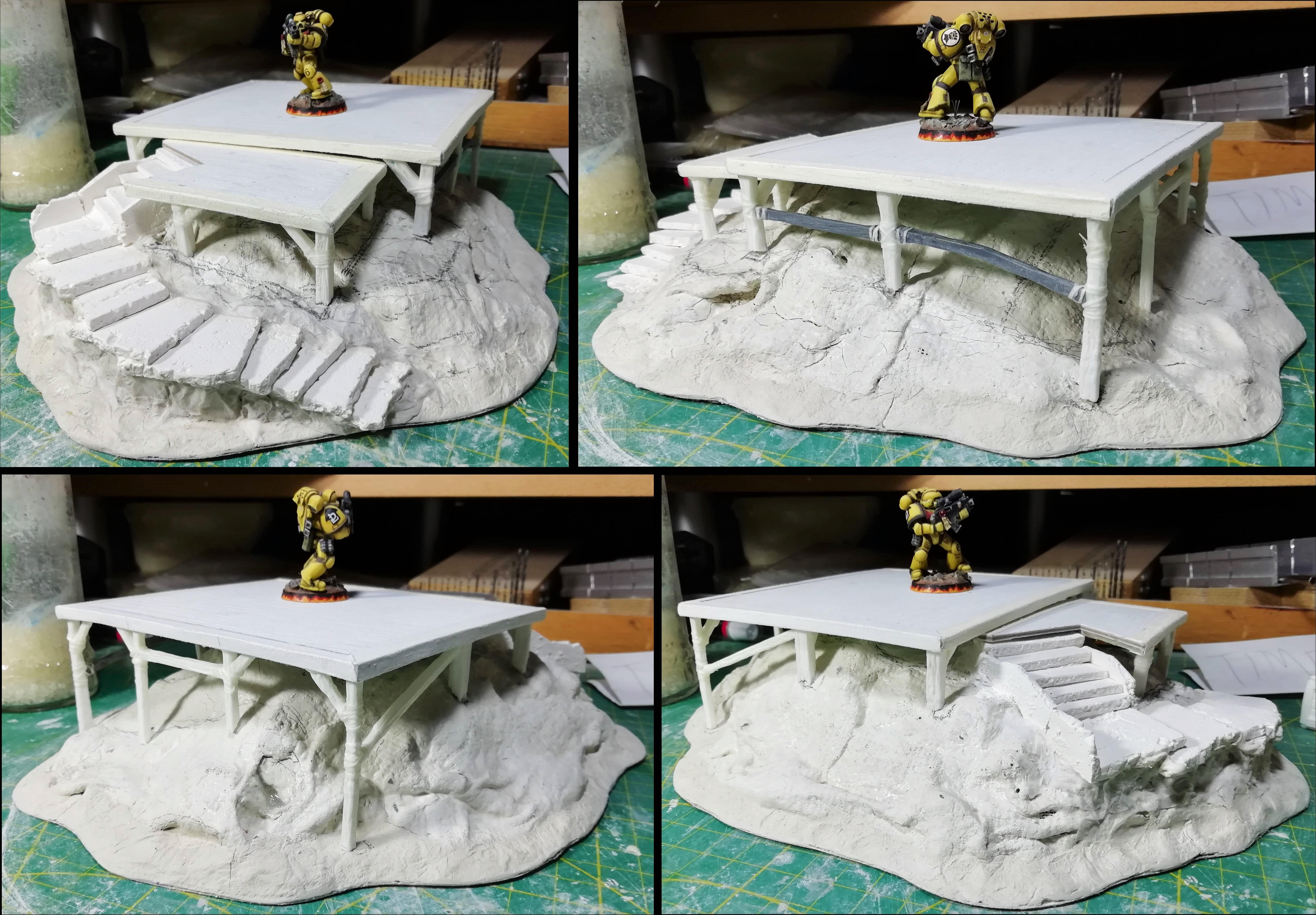Mound wip 4; platform stilts