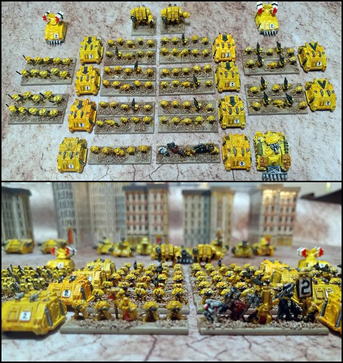 Epic, Epic40k, Imperial Fists, Space Marines, Warhammer 40,000
