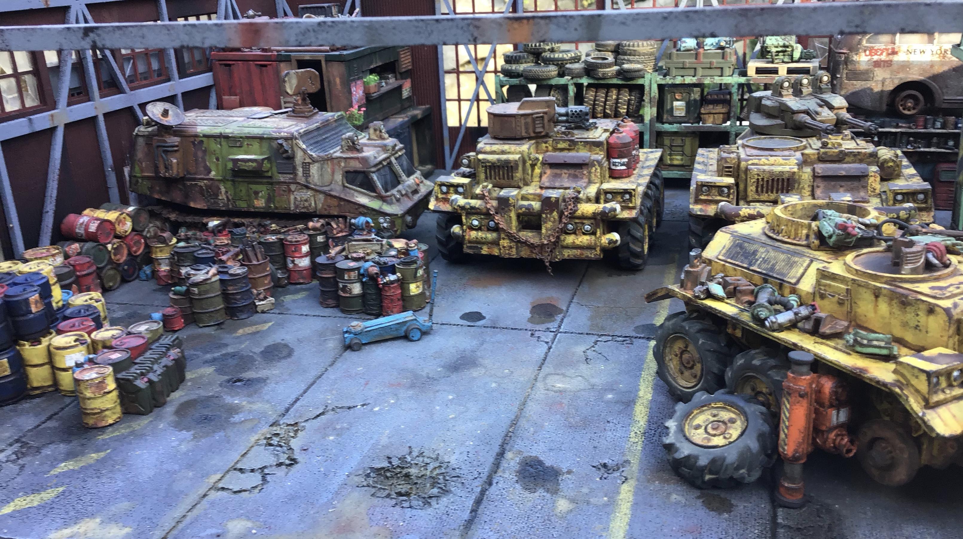 Logistics, Scatter Terrain, Terrain, Trucks, Vehicle, Weathered