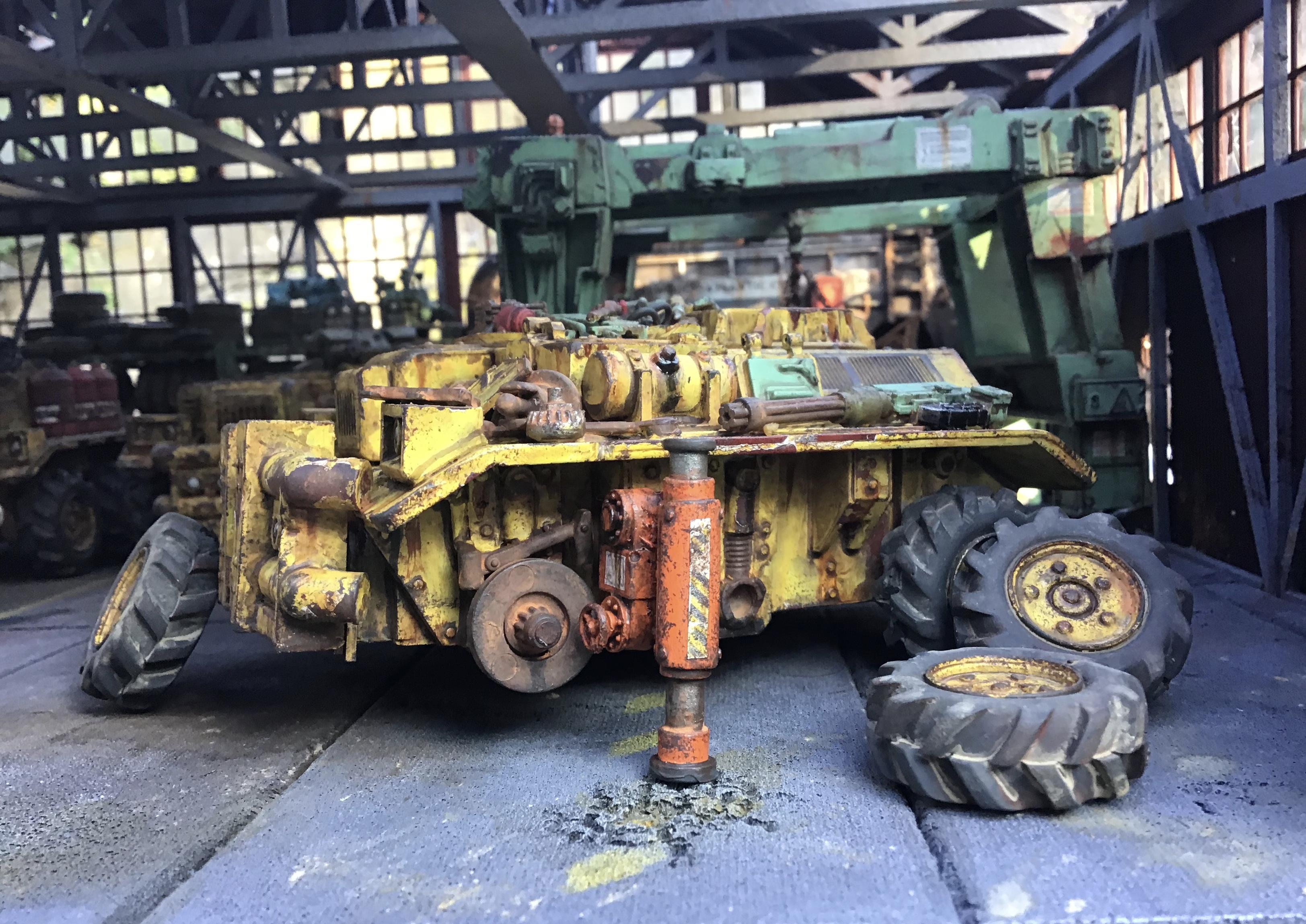 Heavy Equipment, Weathered, Yellow Iron