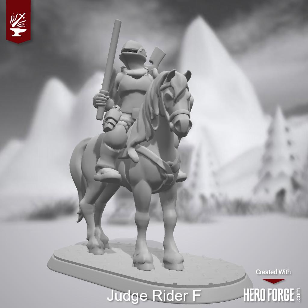 3d Print, Adeptus Arbites, Death Rider, Heroforge, Rough Riders, Stl