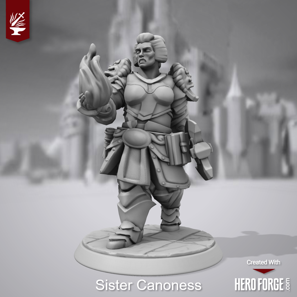 3d Print, Canoness, Heroforge, Sisters Of Battle