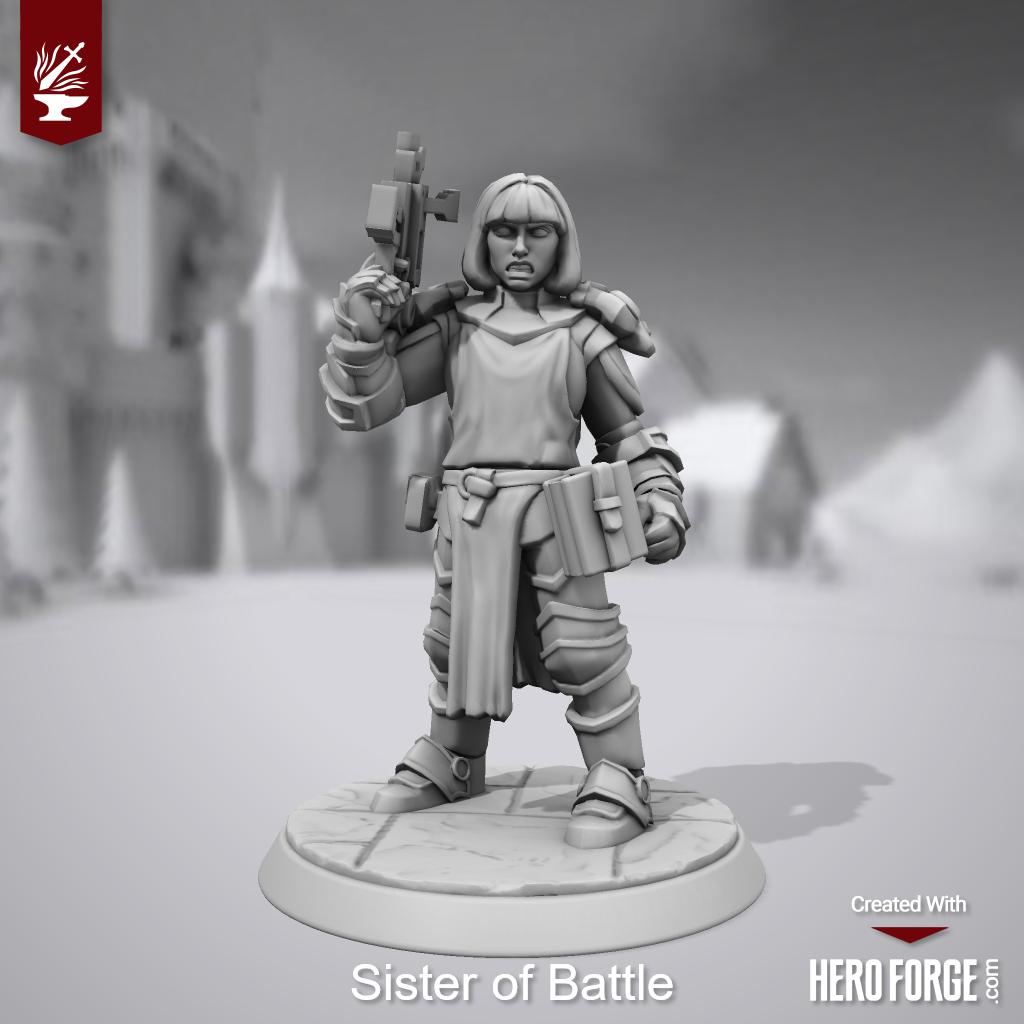3d Print, Heroforge, Sisters Of Battle