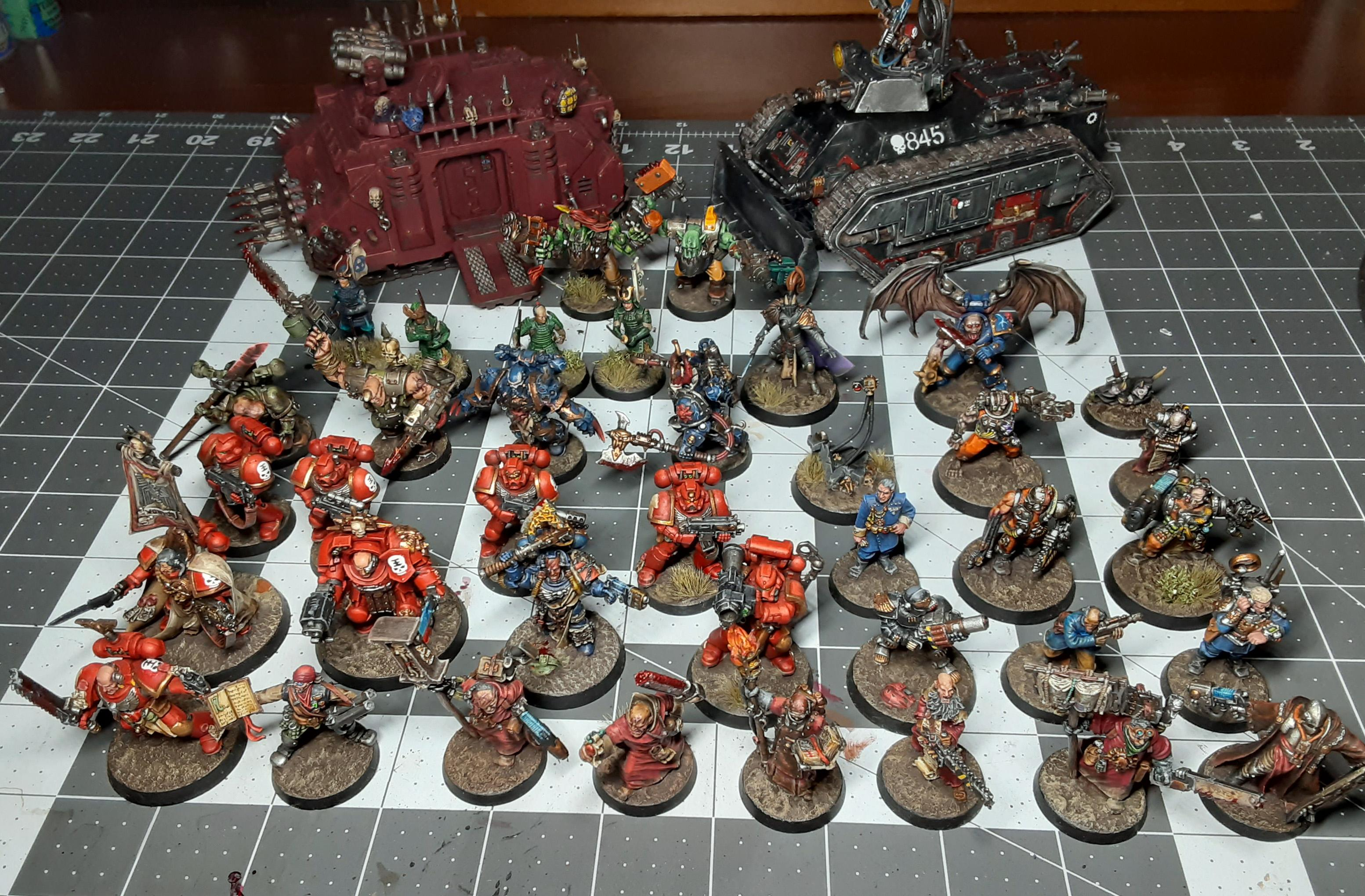 Chaos, Inquisition, Orks, Samurai, Space Marines, Test Of Honour, Warhammer 40,000