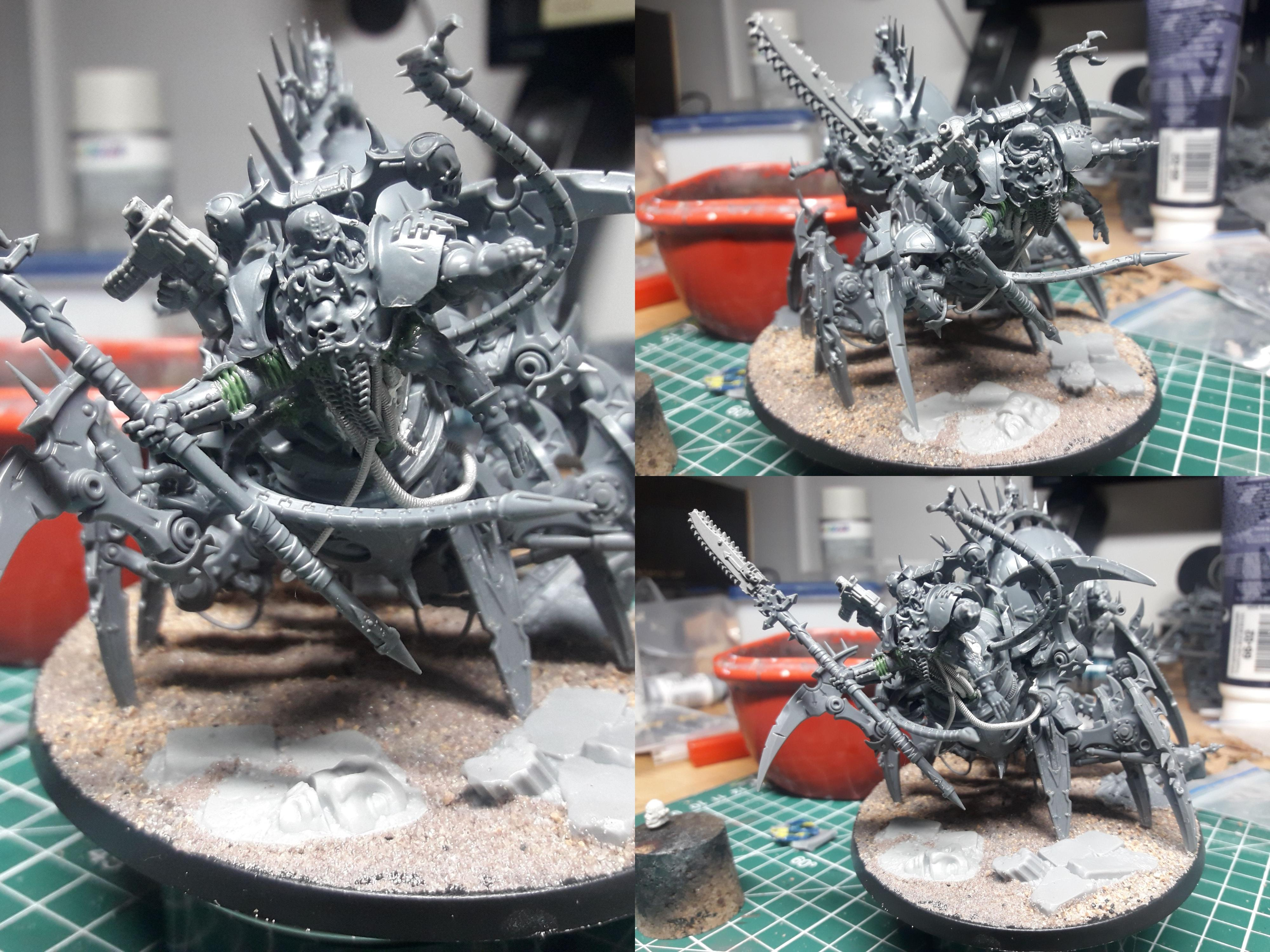 World Eaters Lord Discordant WIP collage
