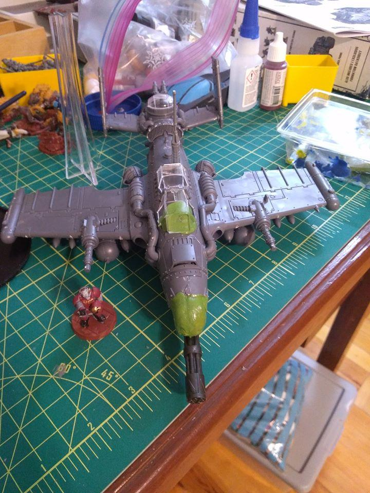 A-10, Avenger, Dakkajet, Flyer, Imperial Guard, Work In Progress