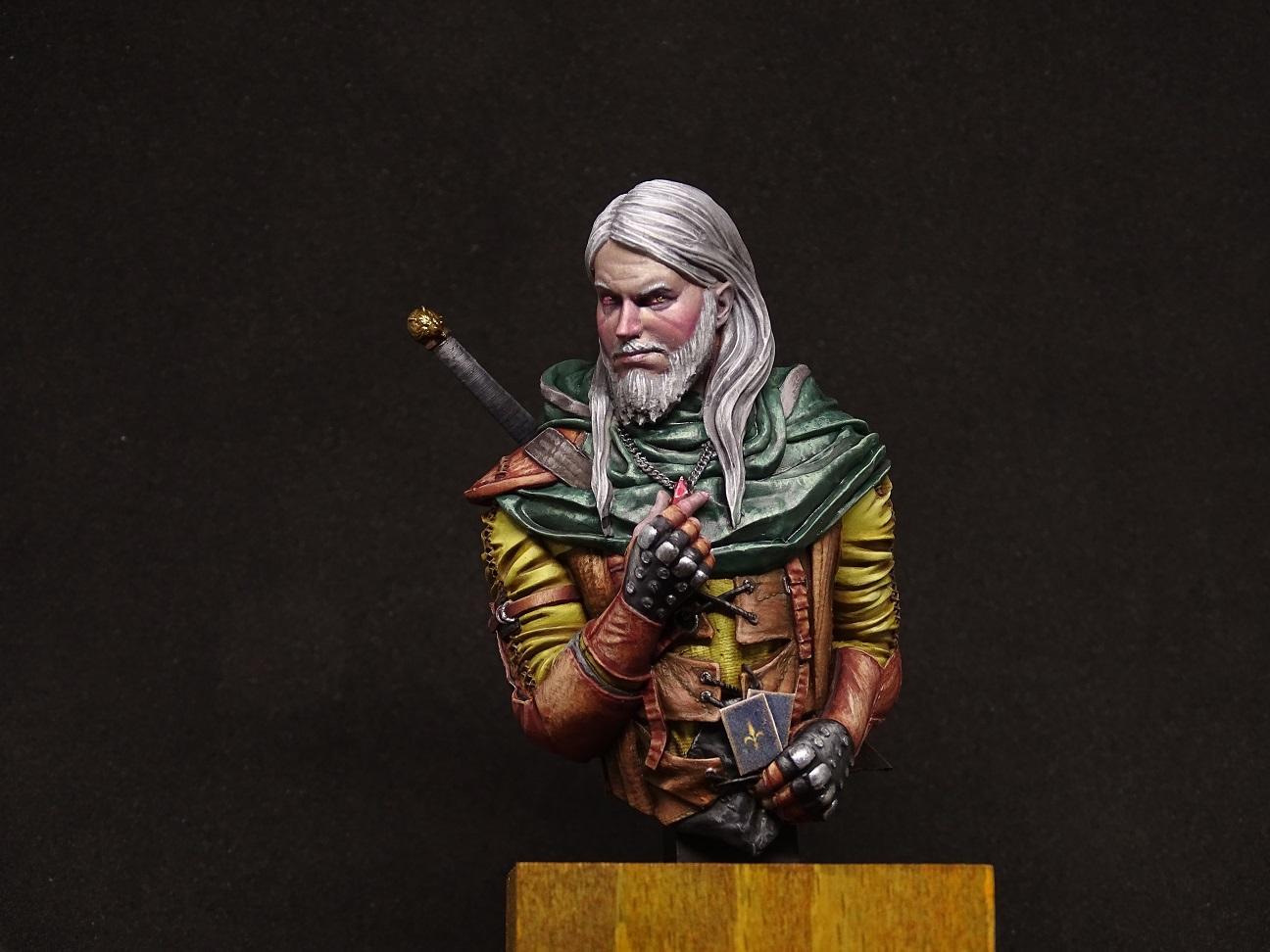 1/12, Bust, Gambler, Geralt, Leather, Skin, Witcher