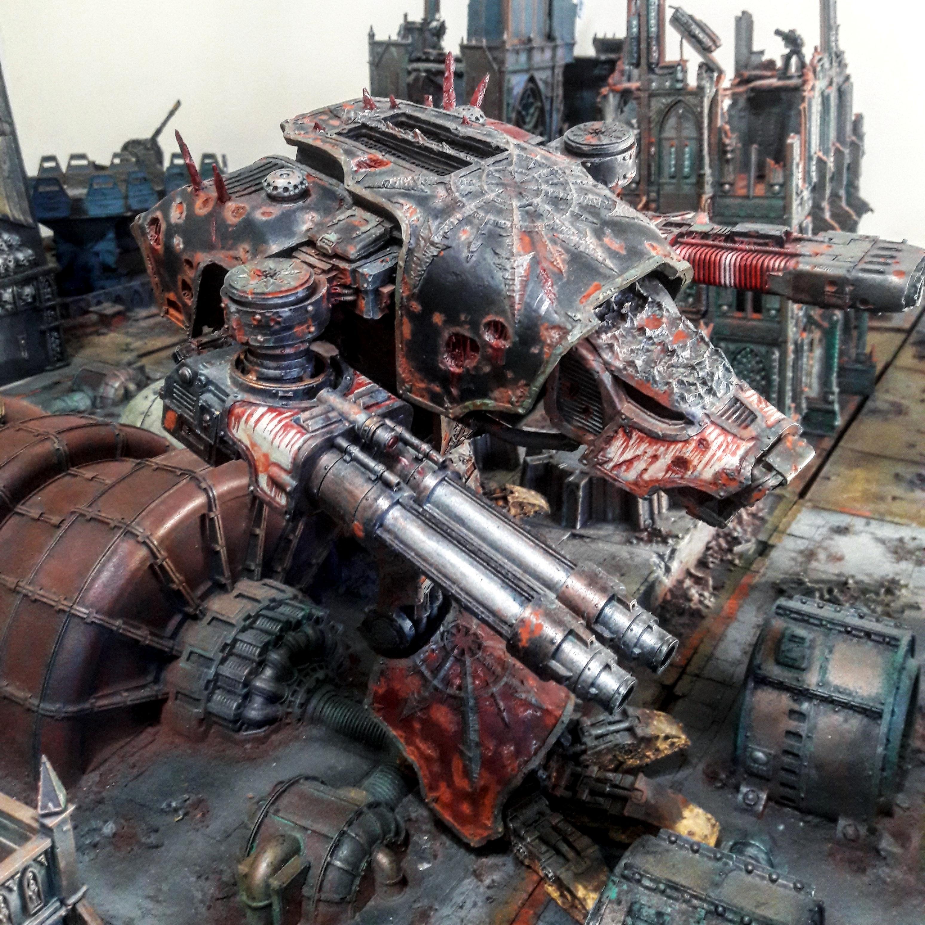 Chaos, Dark Mechanicus, Death Guard, Forge World, Legio Mortis, Traitoris Titanticus, Warhammer 40,000, Warhound