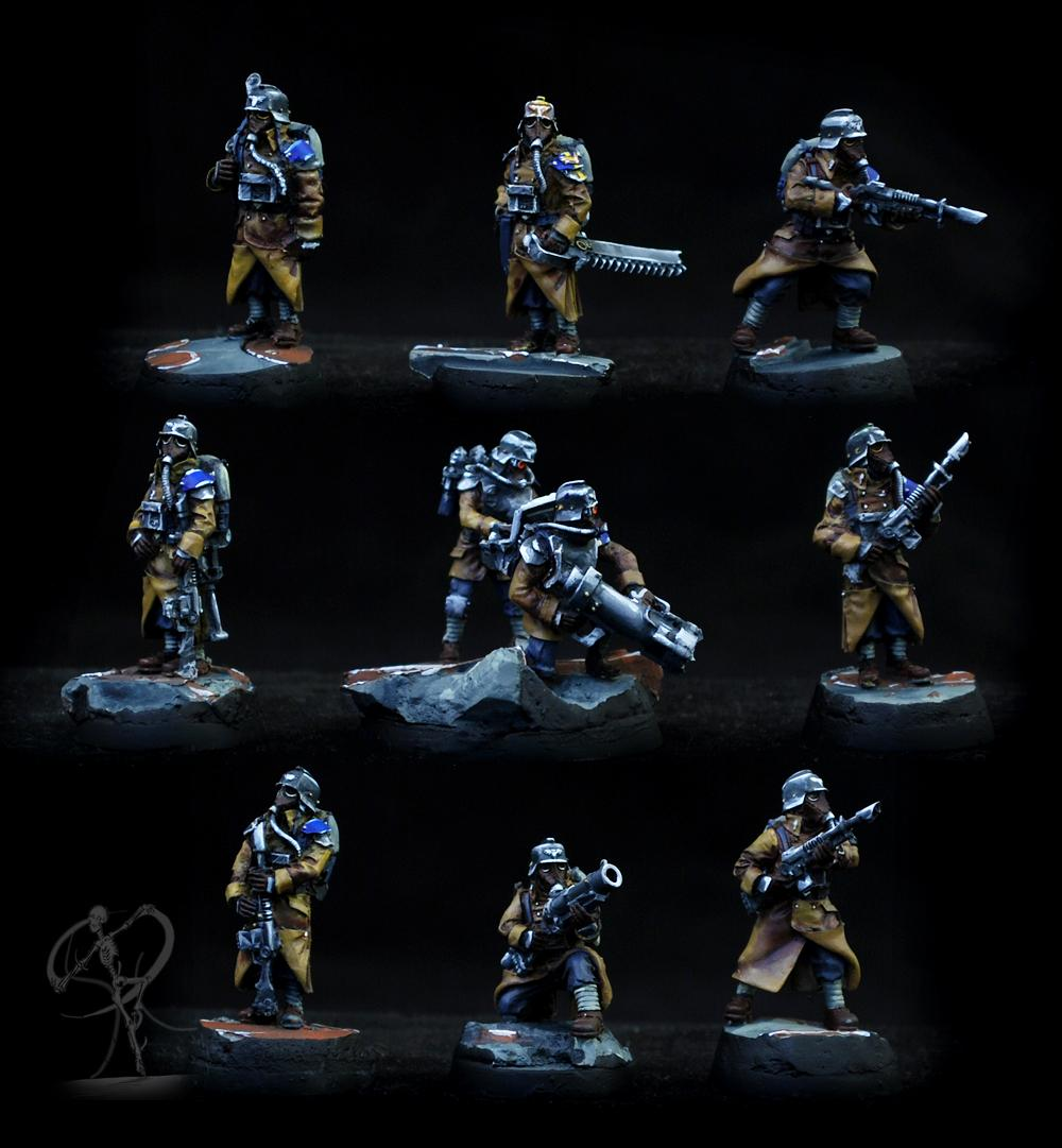Astra Militarum, Death Korps of Krieg, Imperial Guard, Non-Metallic Metal
